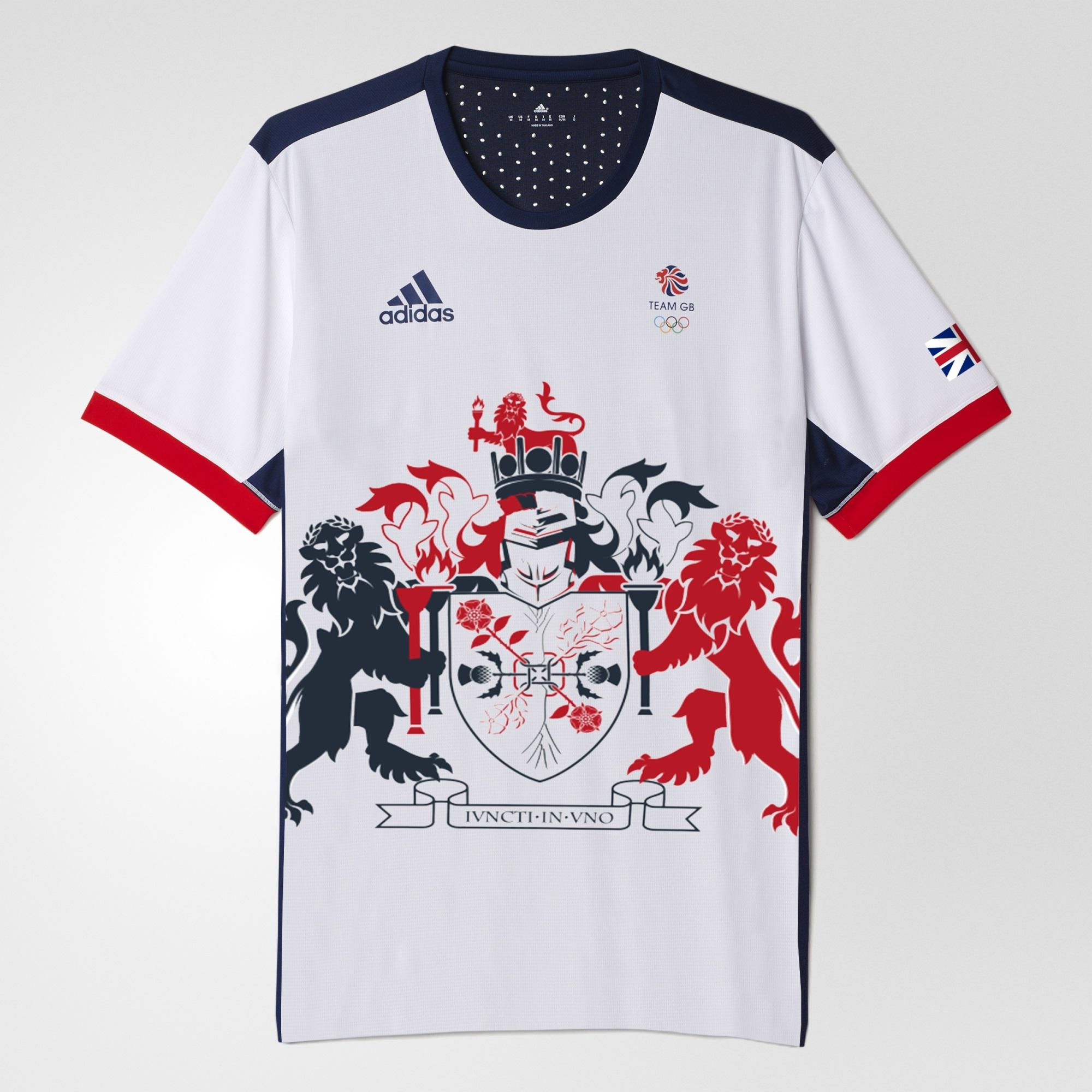 Adidas Mens Rio 2016 Team GB Olympic Climachill Tee - White/Blue -  Tennisnuts.com