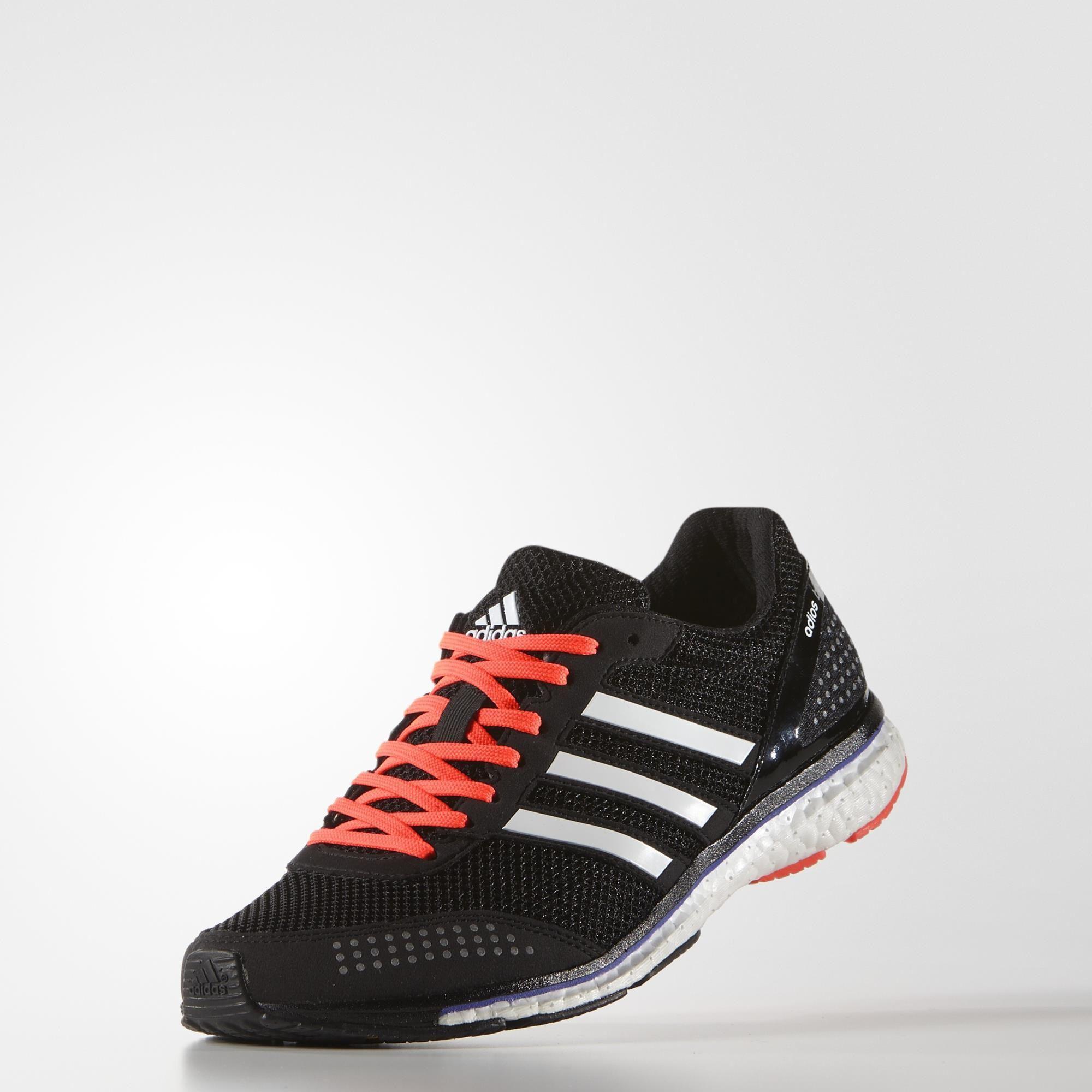adidas womens adizero adios boost 2 0 running shoes black white. Black Bedroom Furniture Sets. Home Design Ideas