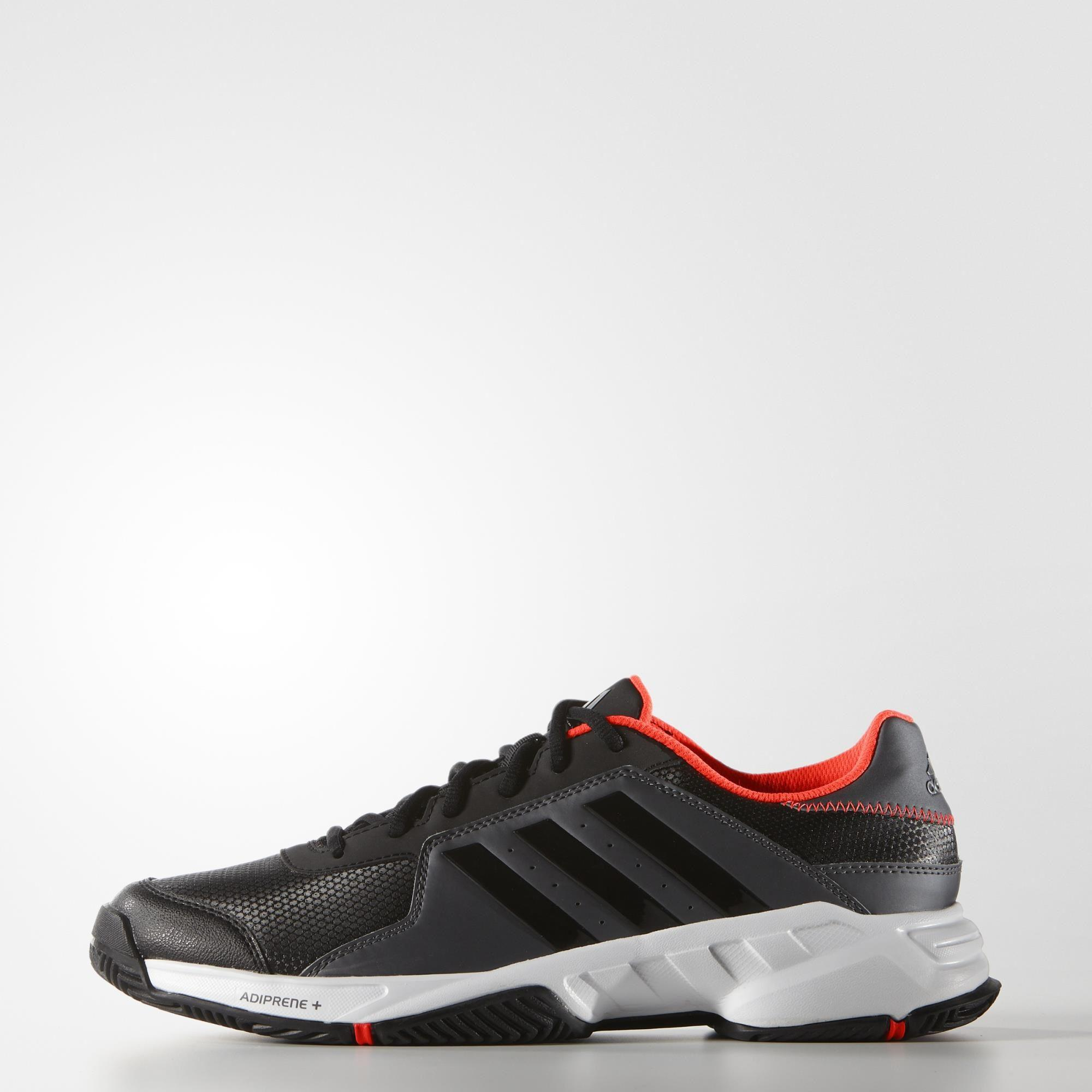 df2e92a77 Adidas Mens Barricade Court Tennis Shoes - Black Red - Tennisnuts.com