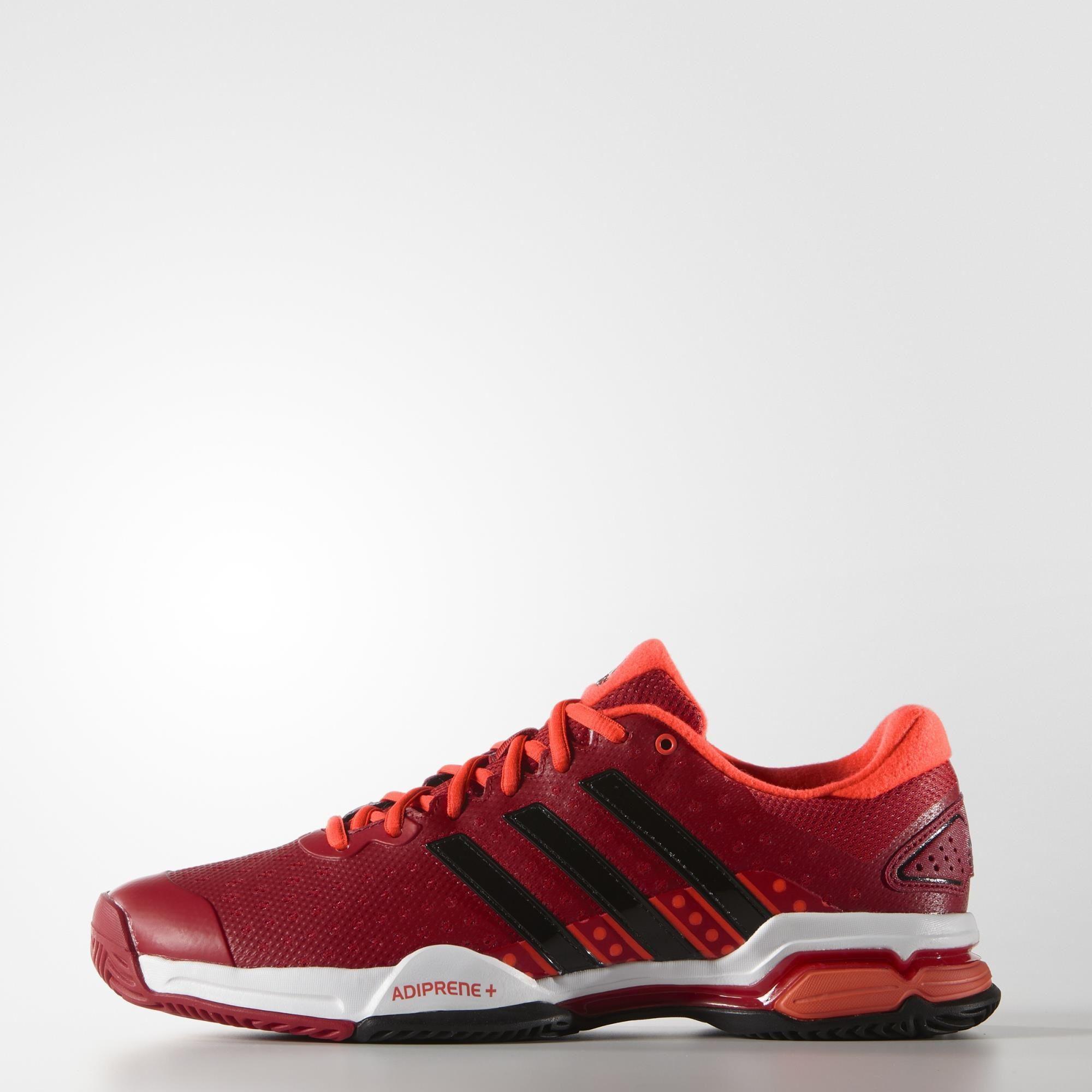 Adidas Mens Barricade Team 4 Tennis Shoes - Power Red/Black