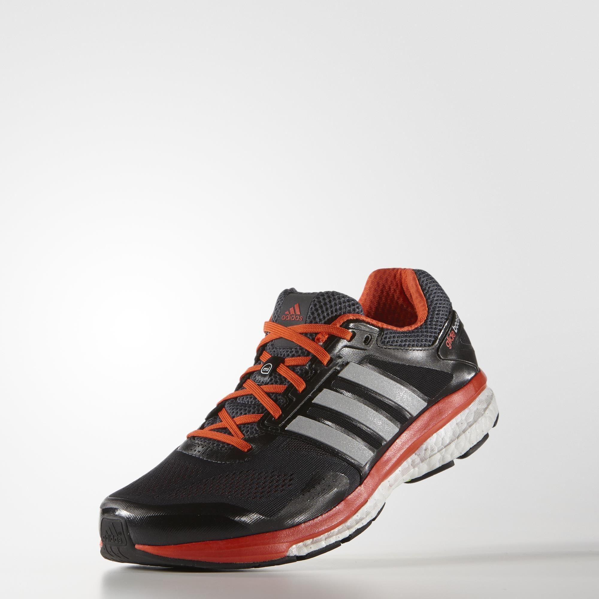 Adidas Mens Supernova Glide Boost 7 Running Shoes - Grey ...