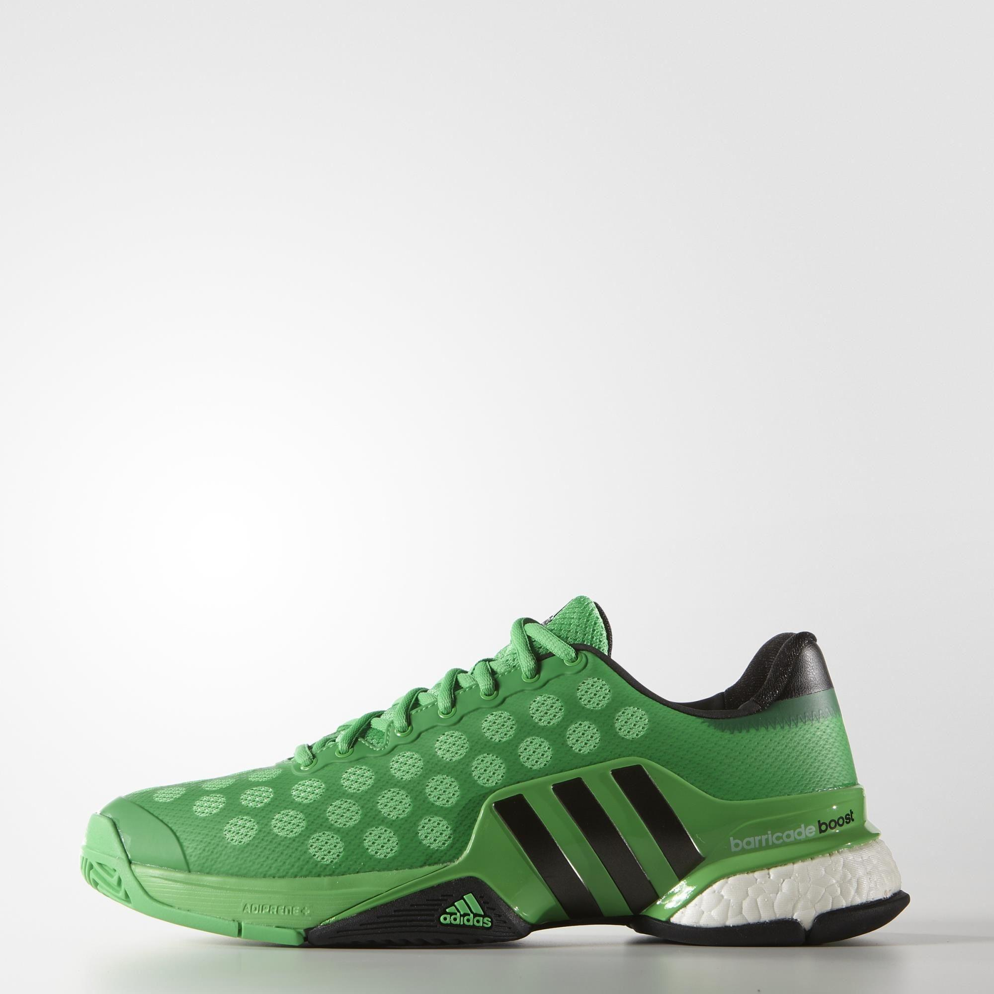 new product 06263 b91ee ... shopping adidas mens limited edition barricade boost 2015 tennis shoes  green black 5f204 7904a