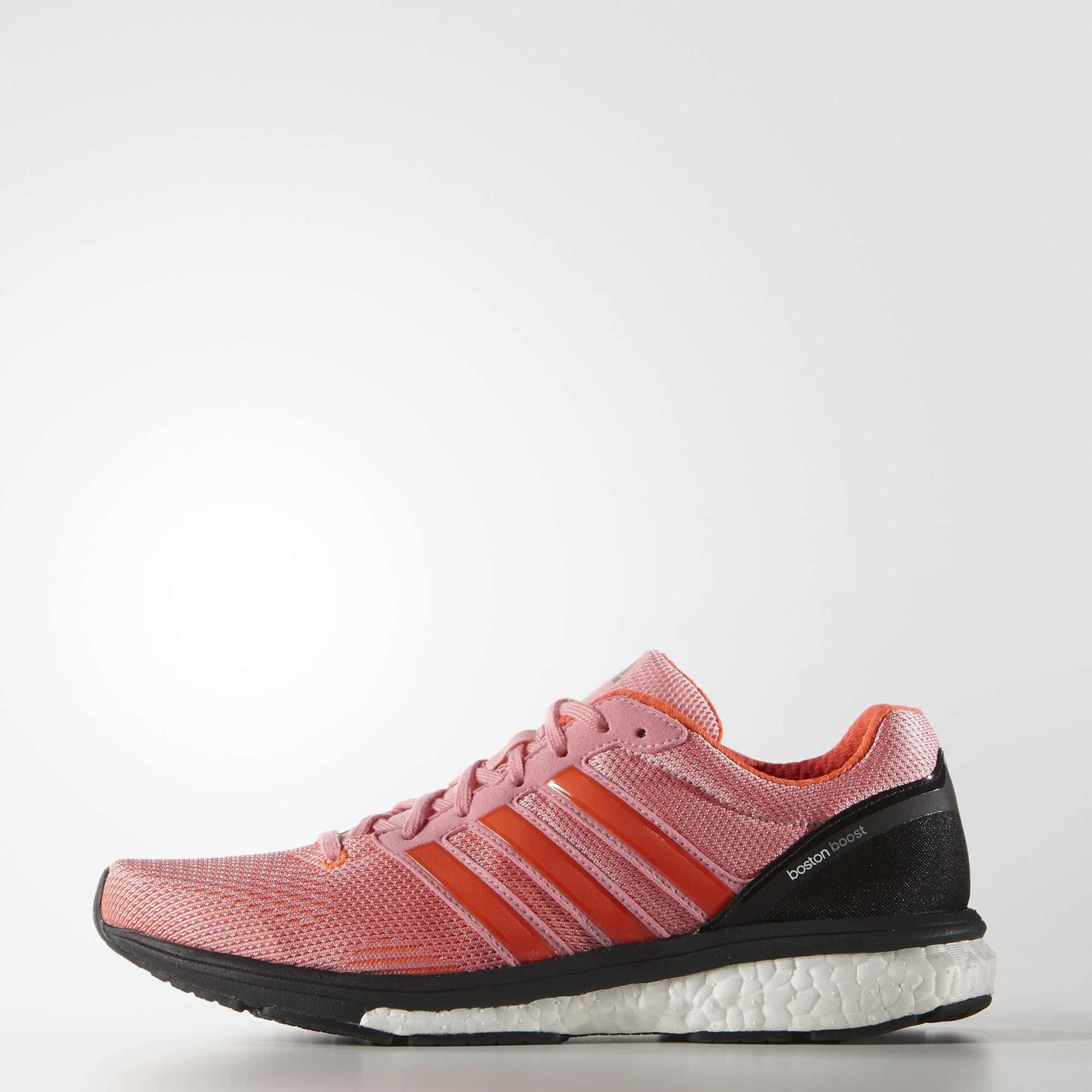 2904331416573 Adidas Womens Adizero Boston Boost 5 Running Shoes - Super Pop Solar Red -  Tennisnuts.com
