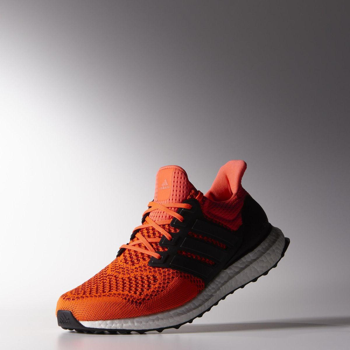 Adidas Mens Ultra Boost Running Shoes Solar Red