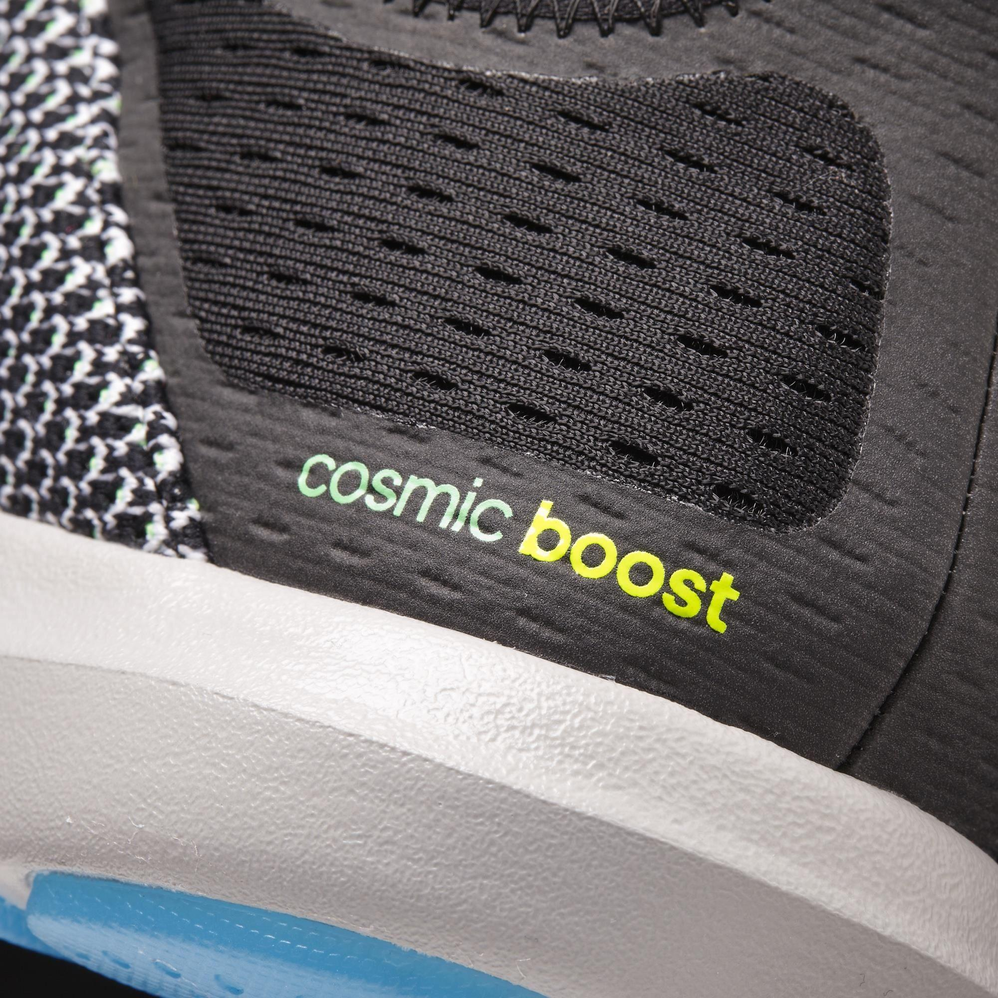 201c6d0a09c8aa Adidas Mens Climachill Cosmic Boost Running Shoes - Black Blue ...