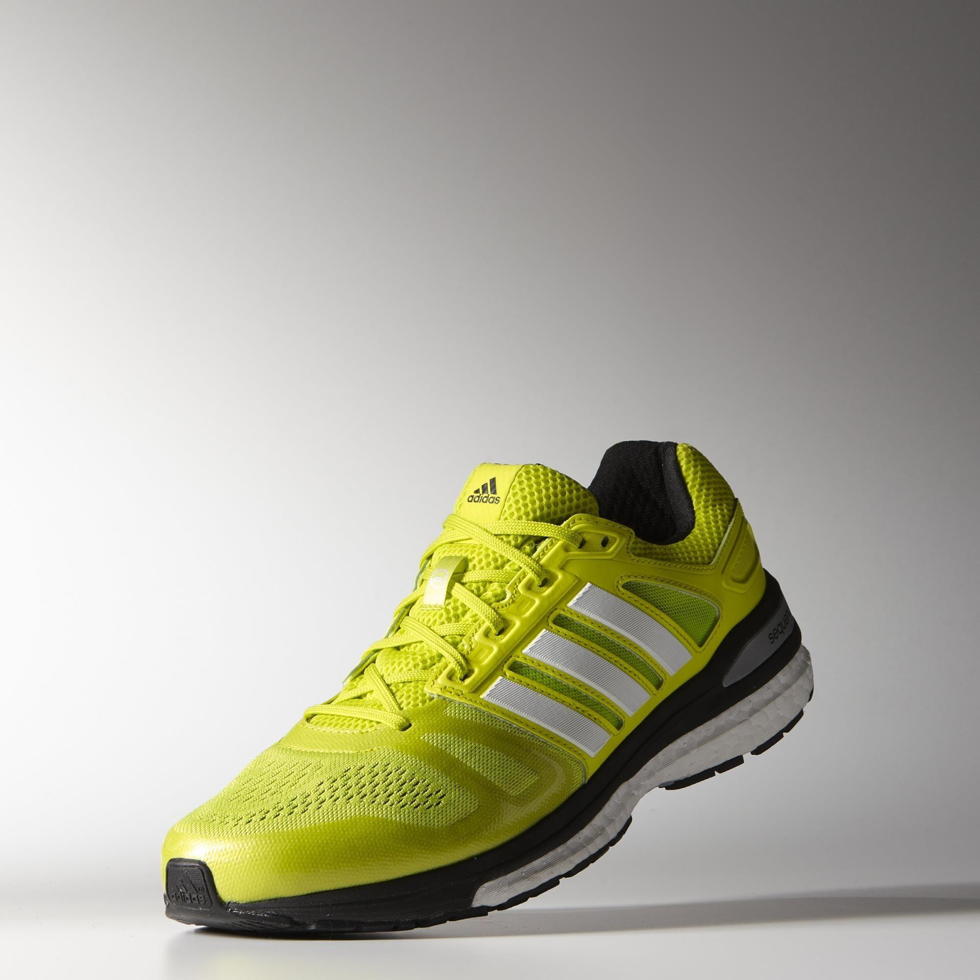 aa19fd6e5 Adidas Mens Supernova Sequence Boost 7 Running Shoes - Yellow White ...
