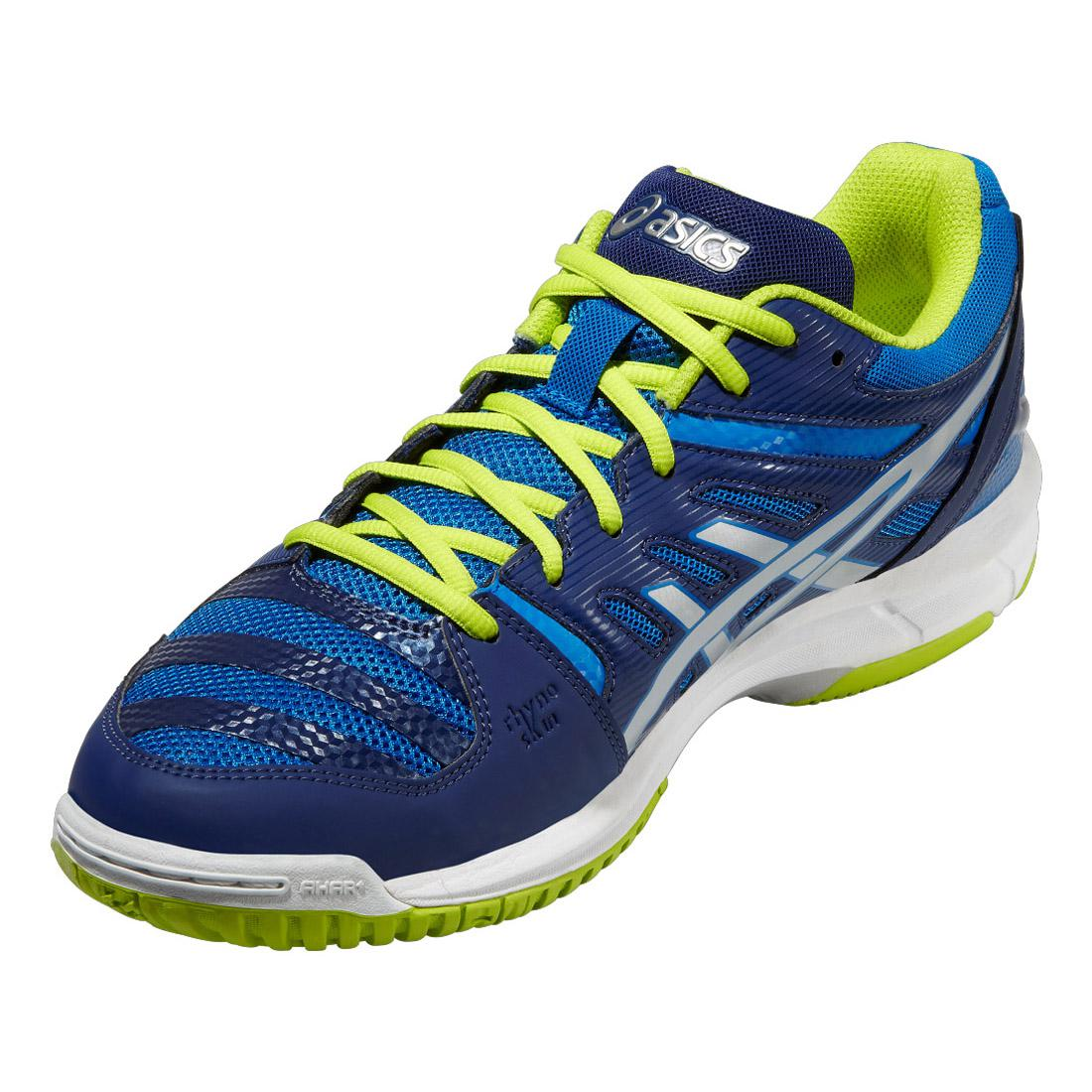 Asics Mens GEL-Beyond 4 Indoor Court Shoes - Electric Blue/Lime - Tennisnuts.com