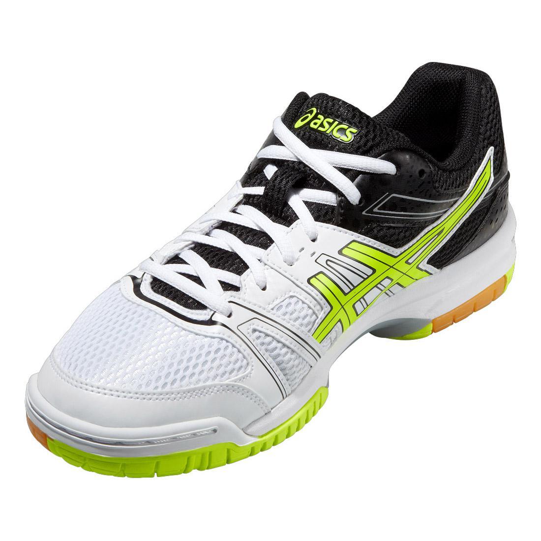 Asics Mens GEL-Rocket 7 Indoor Court Shoes - White Black ... bdf210c5bf7d2