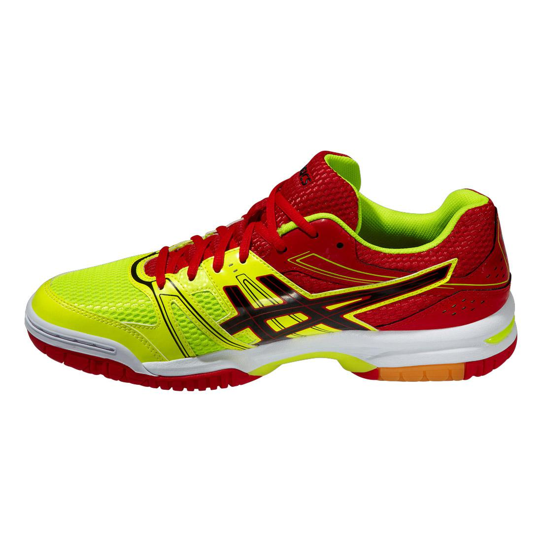 Asics Mens GEL Rocket 7 Indoor Court Shoes - Yellow/Red