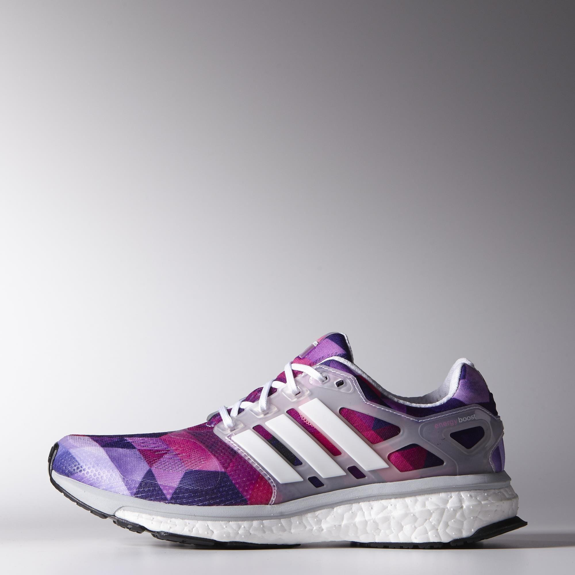 8e0590f54 Adidas Womens Energy Boost ESM Running Shoes - White Purple Pink -  Tennisnuts.com