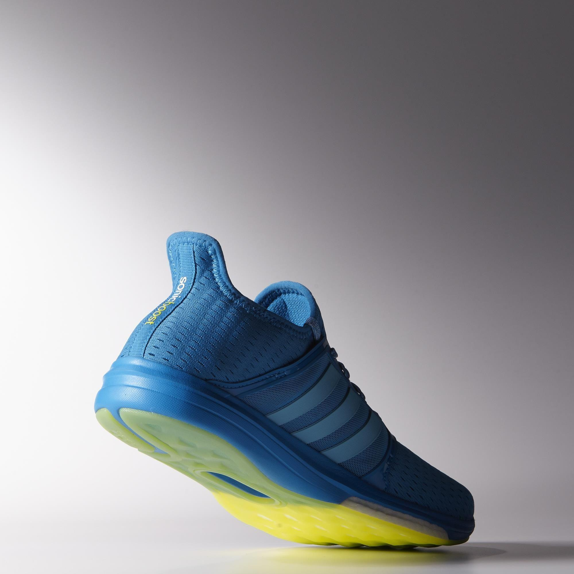 Adidas Mens Climachill Sonic Boost Running Shoes Solar Blue