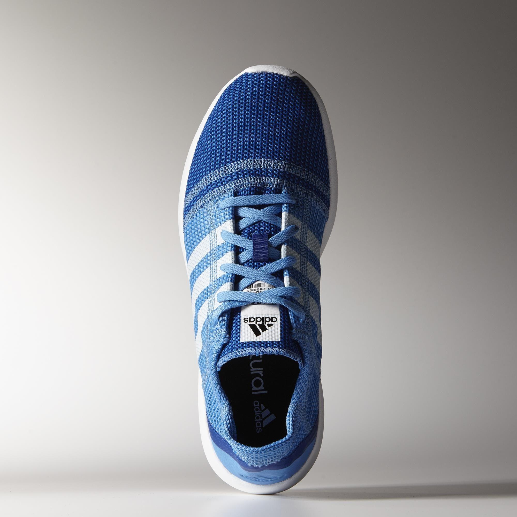 new concept ff1bd a59ba Adidas Mens Element Refine Tricot Running Shoes - Blue