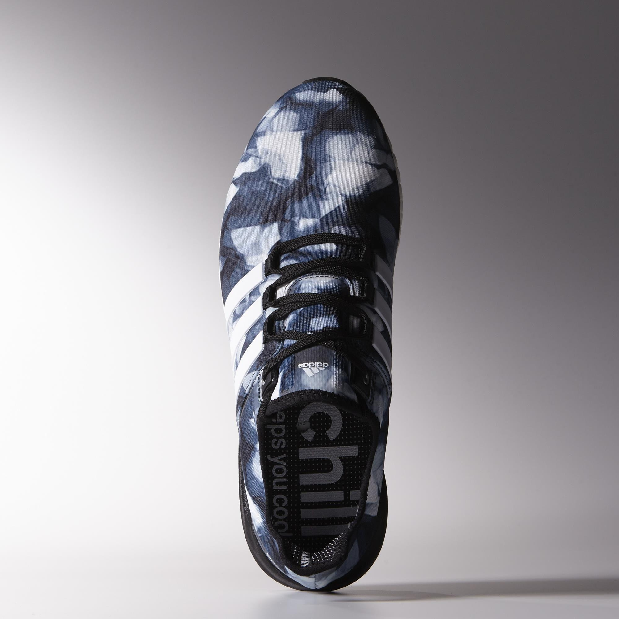 wholesale dealer fdd8b 88061 Adidas Mens Climachill Gazelle Boost Running Shoes - Black White