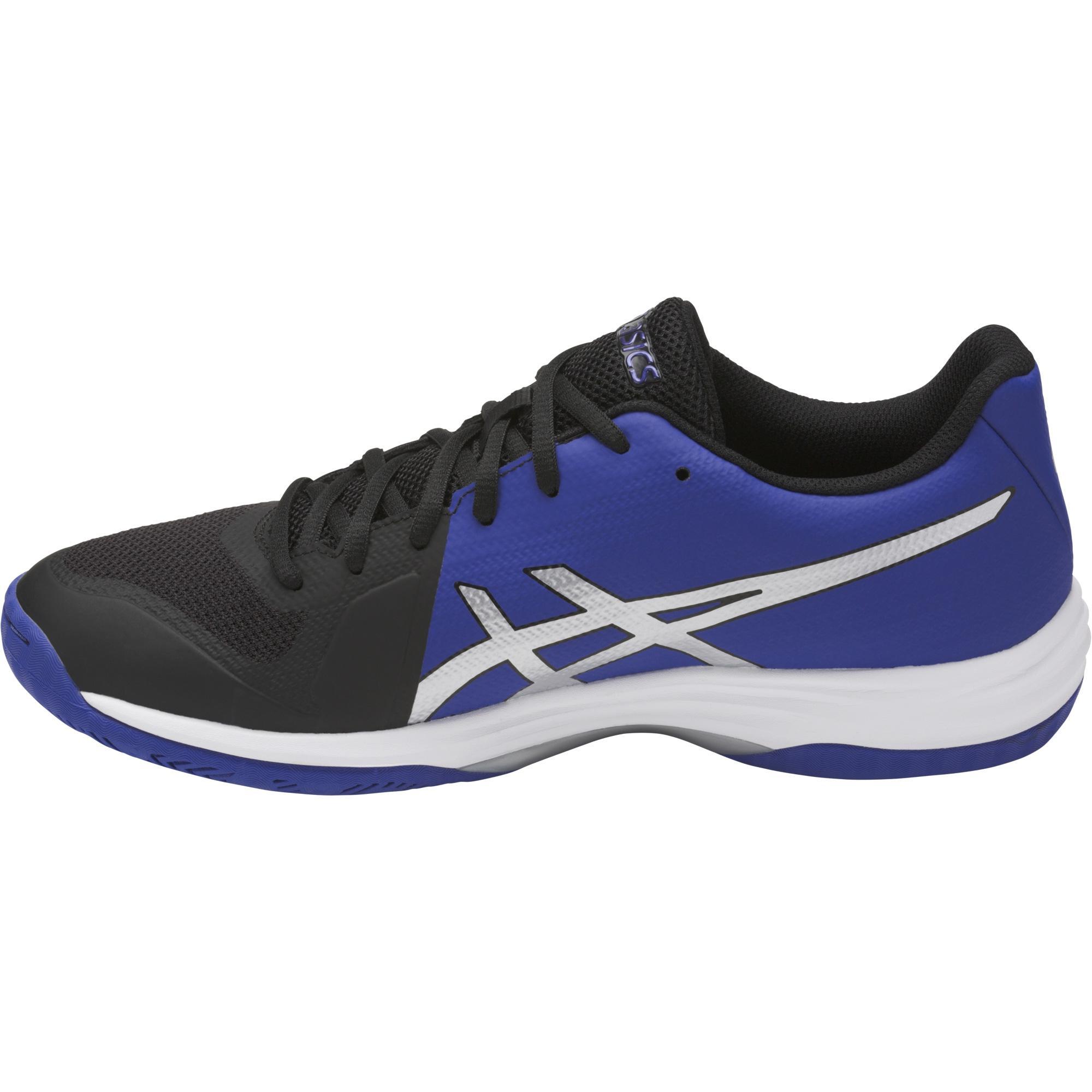 asics mens gel tactic 2 indoor shoes black blue. Black Bedroom Furniture Sets. Home Design Ideas
