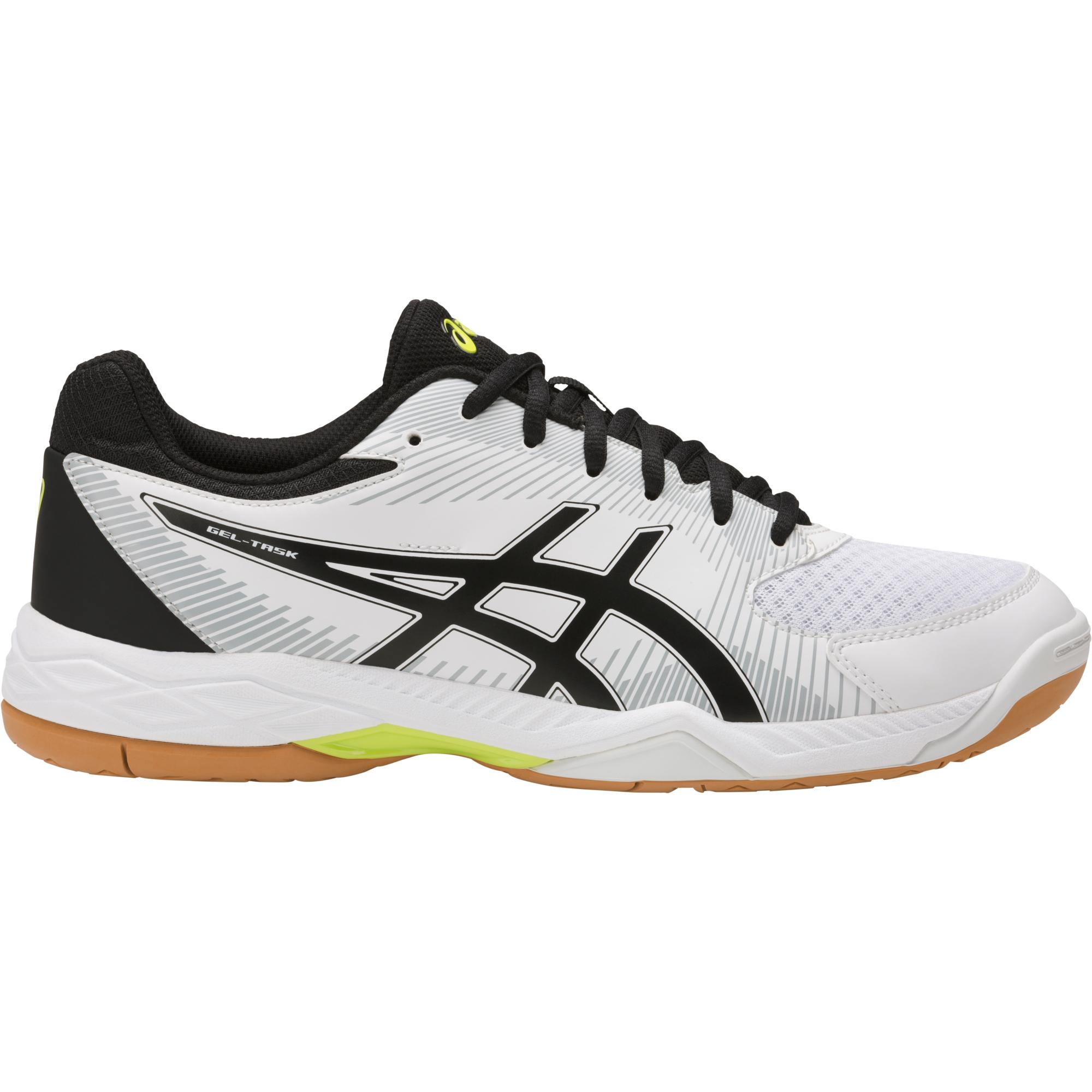 Asics Mens GELTask 2 Indoor Court Shoes  White/Black