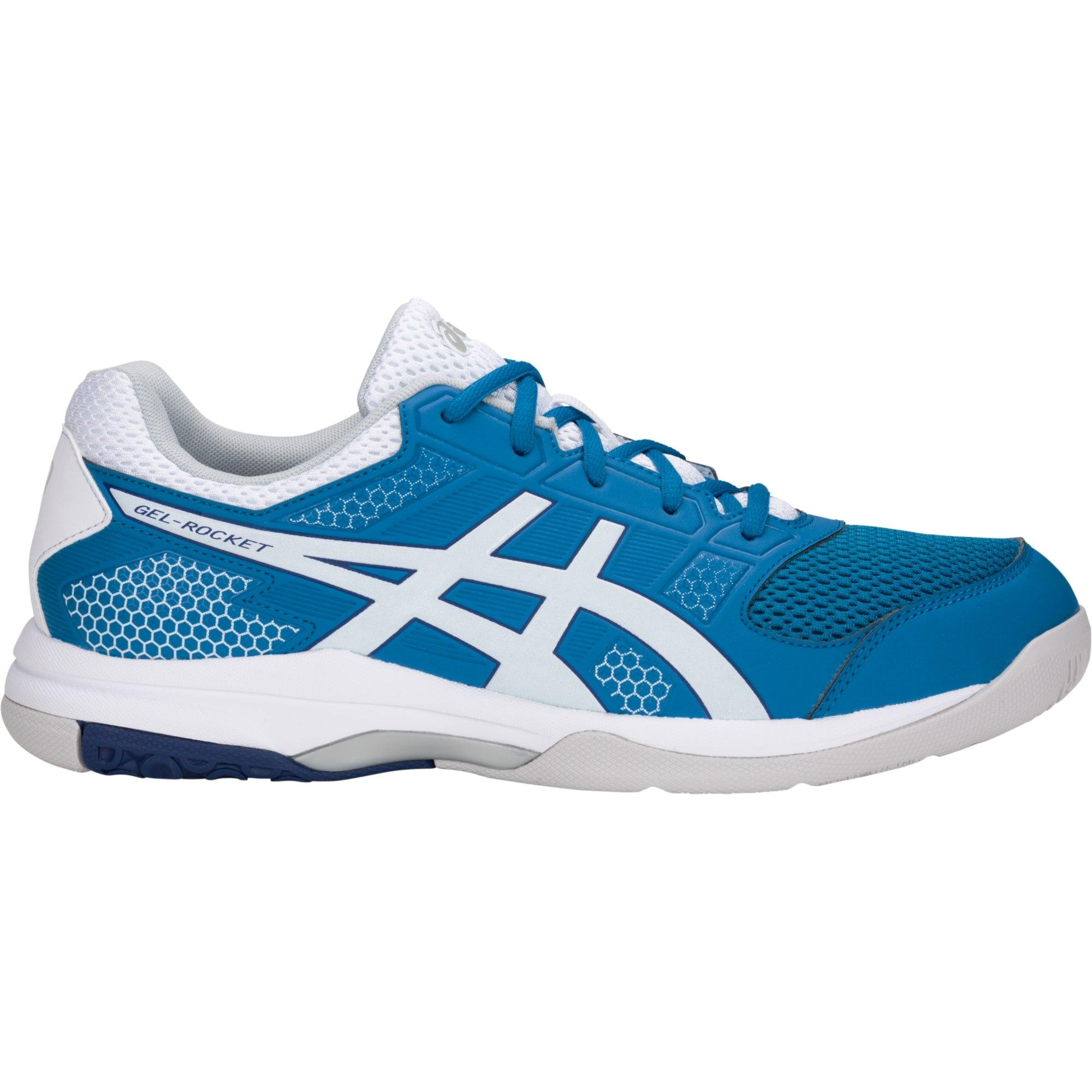 abebc153bbe540 Asics Mens GEL-Rocket 8 Indoor Court Shoes - Race Blue White -  Tennisnuts.com