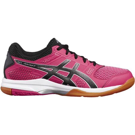 b0166a64e832 Asics Womens GEL-Rocket 8 Indoor Court Shoes - Rouge Red Black -  Tennisnuts.com