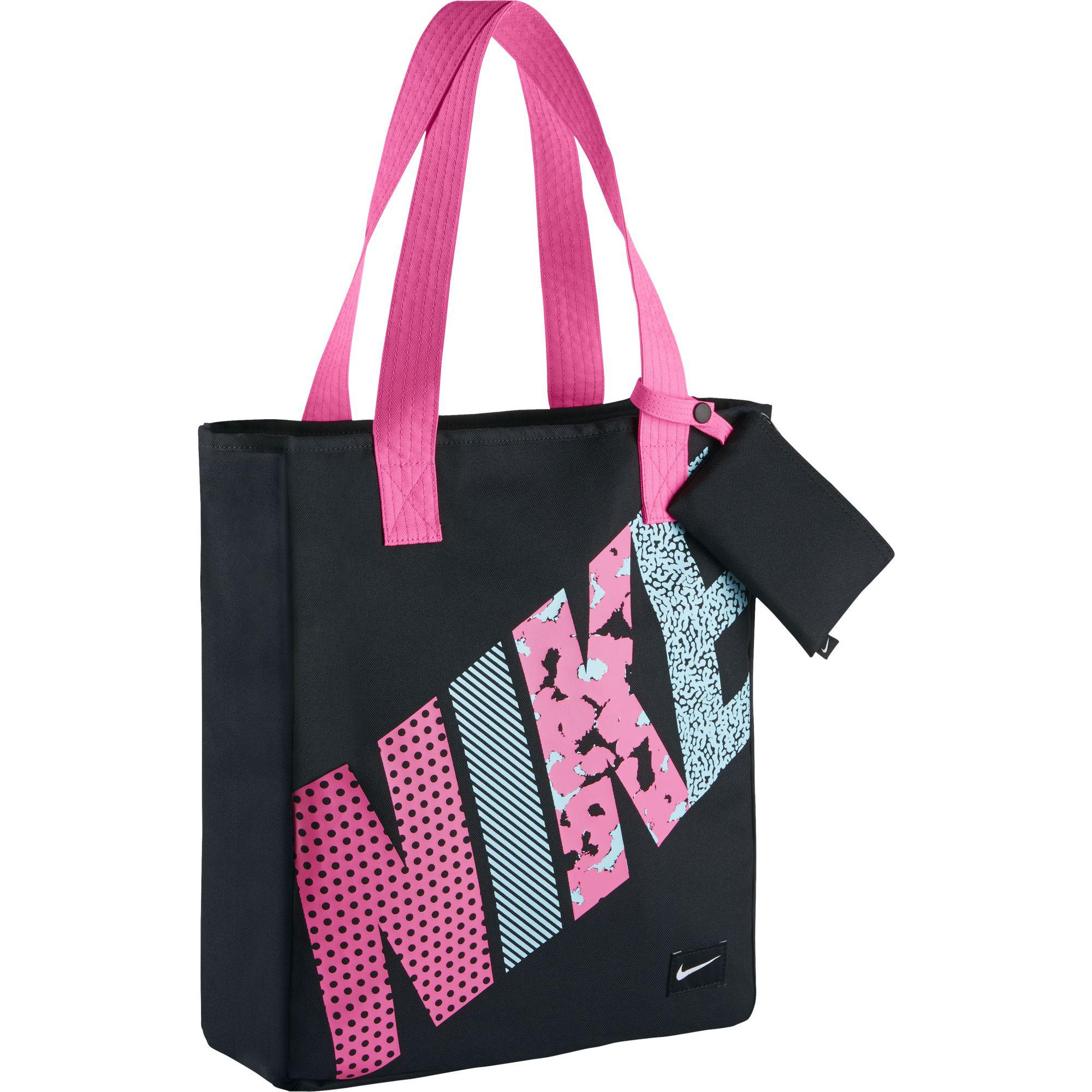 Nike Rowena Kids Tote Bag Black Pink Pow