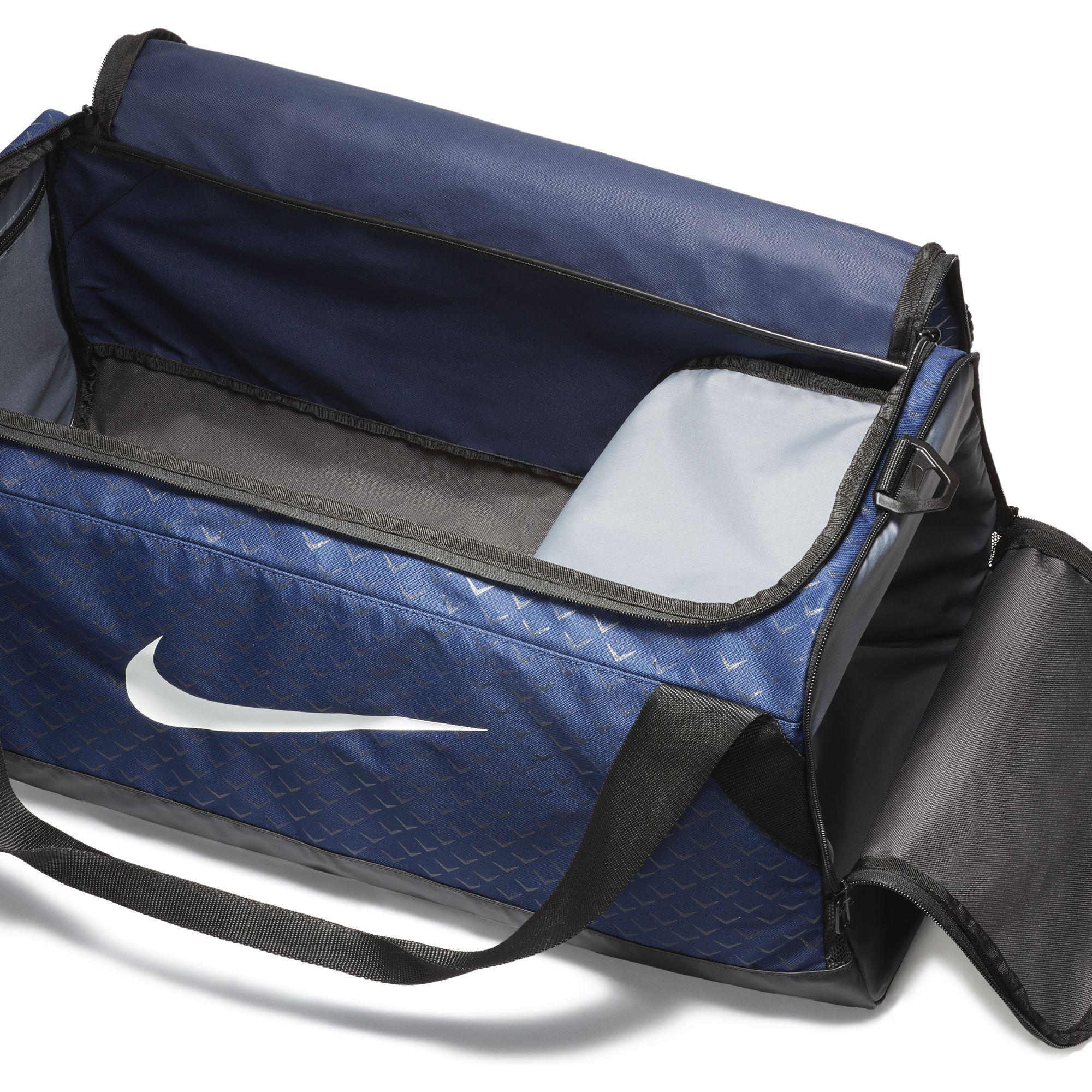 Nike Brasilia (Medium) Training Duffel Bag - Binary Blue Black White ... d72fd9798f83