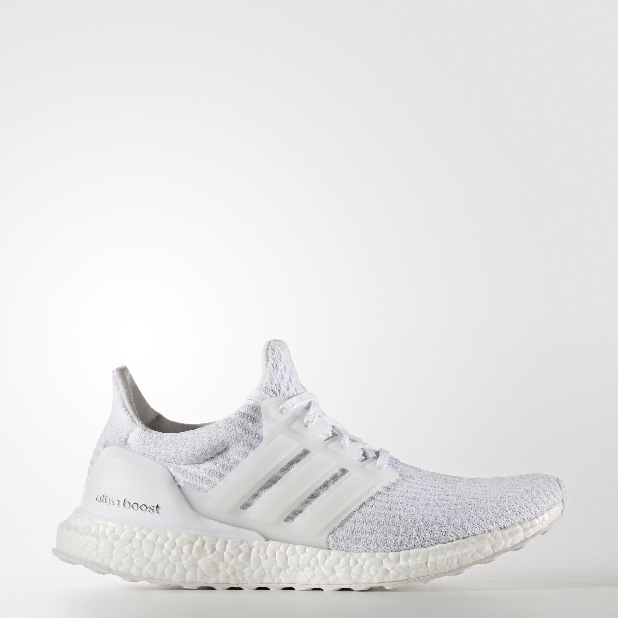 reputable site 8b843 bc0d7 Adidas Mens Ultra Boost Running Shoes - Triple White