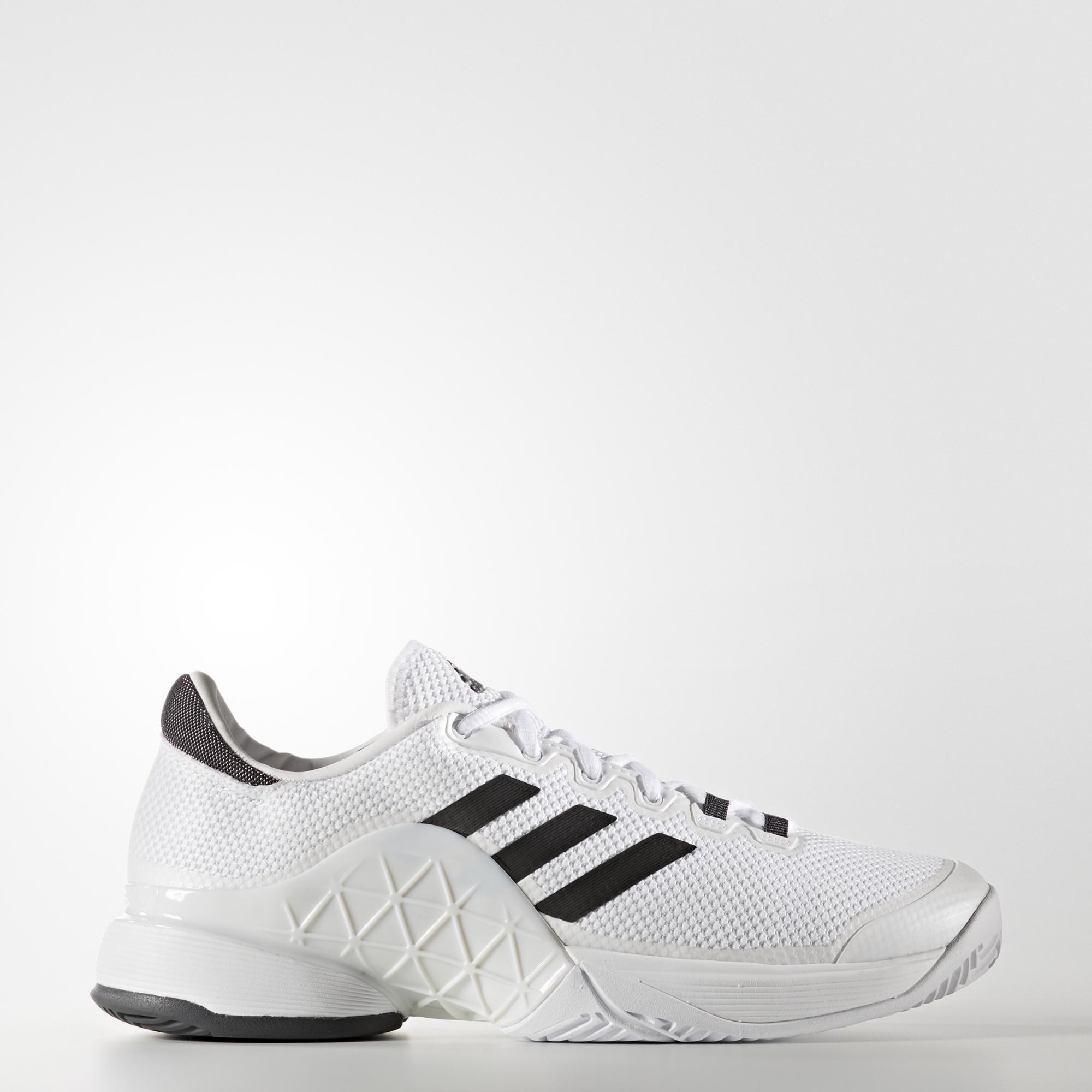 2a09e7beb Adidas Mens Barricade 2017 Tennis Shoes - White Grey - Tennisnuts.com