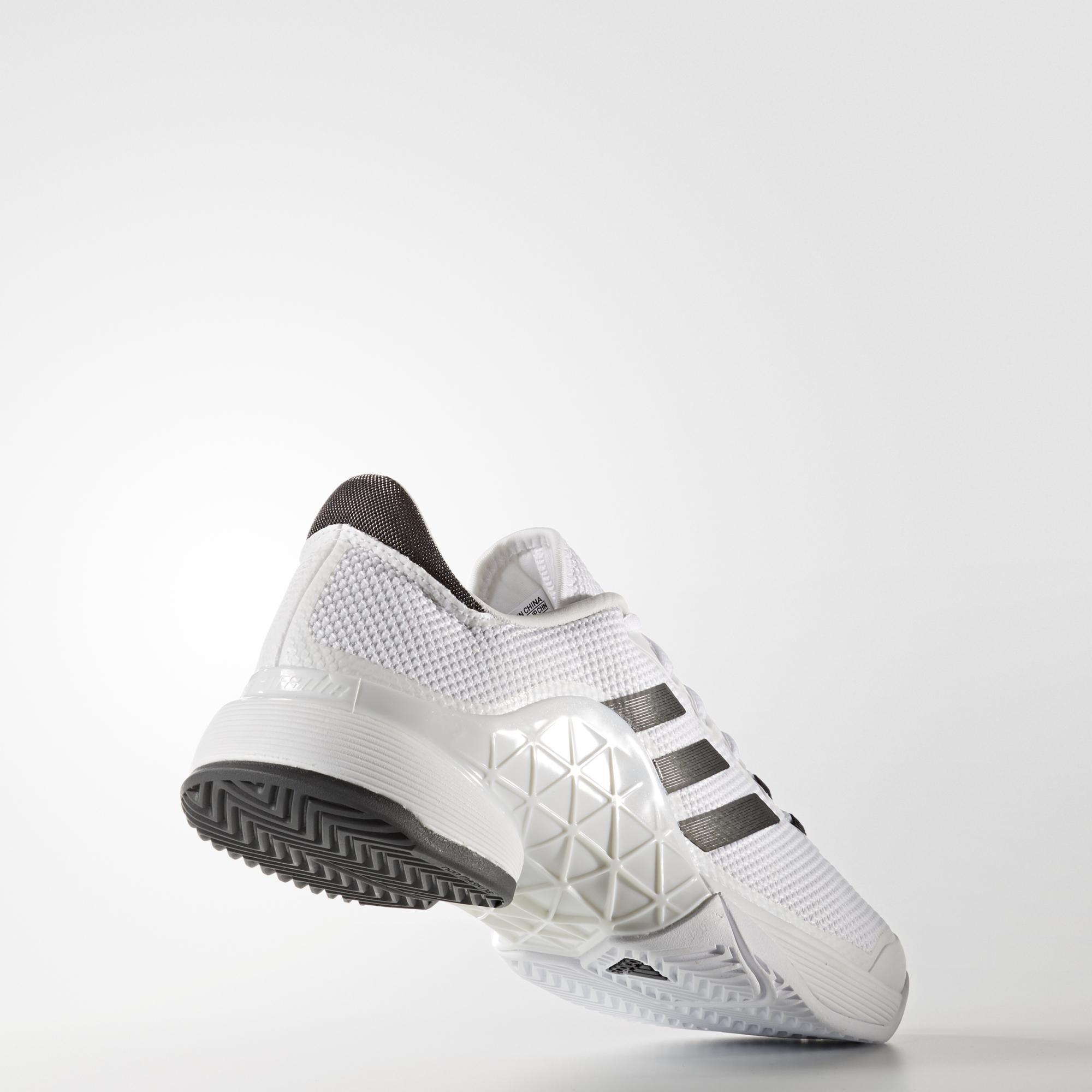 adidas mens barricata 2017, scarpe da tennis bianco / grigio