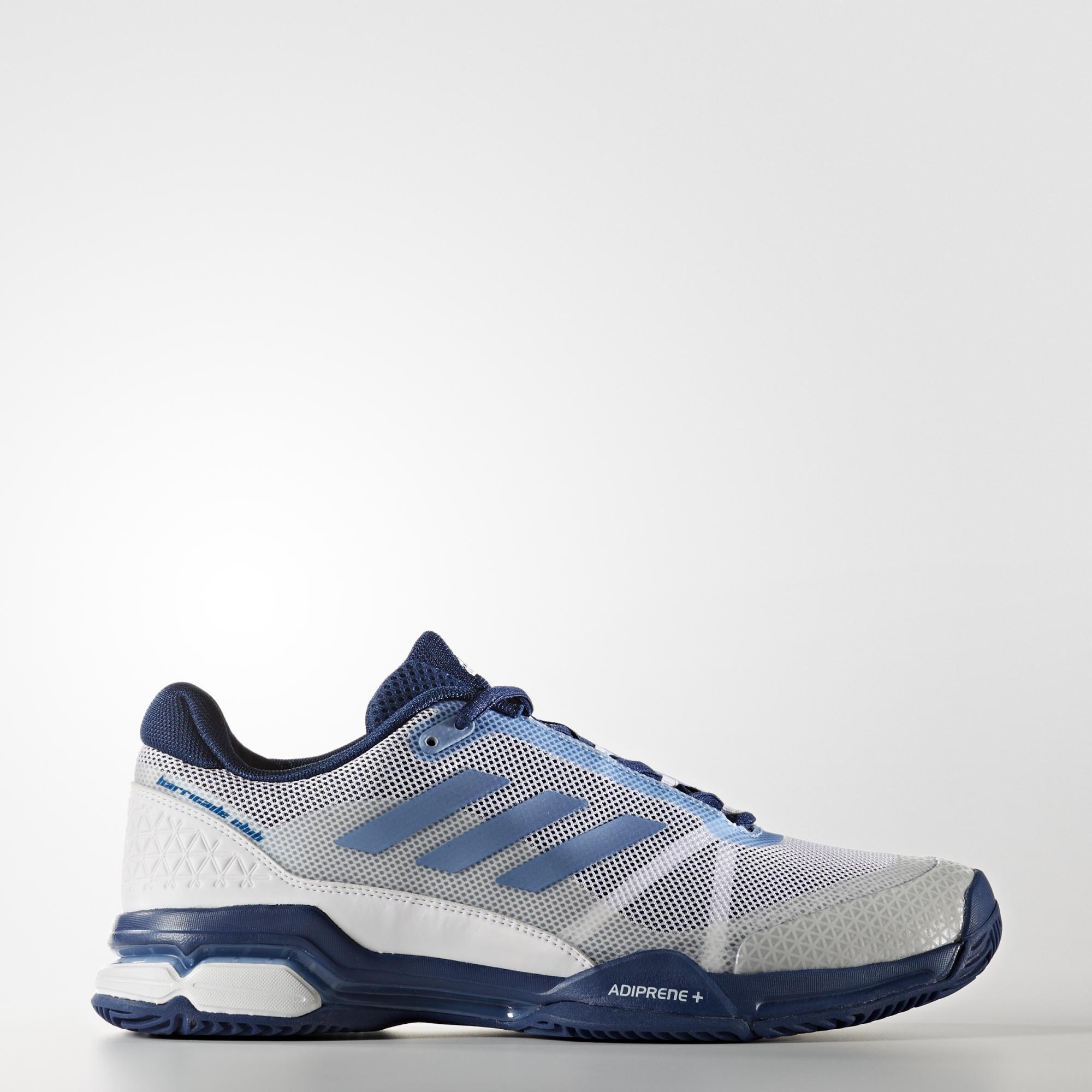 81aa0bac6 Adidas Mens Barricade Club (2017) Tennis Shoes - White Tech Blue -  Tennisnuts.com