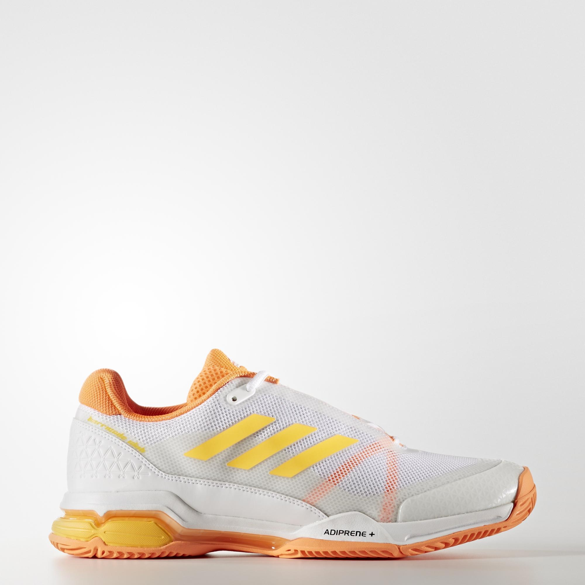 new style 5b80e d290a Adidas Mens Barricade Club (2017) Tennis Shoes - WhiteSolar Gold -  Tennisnuts.com