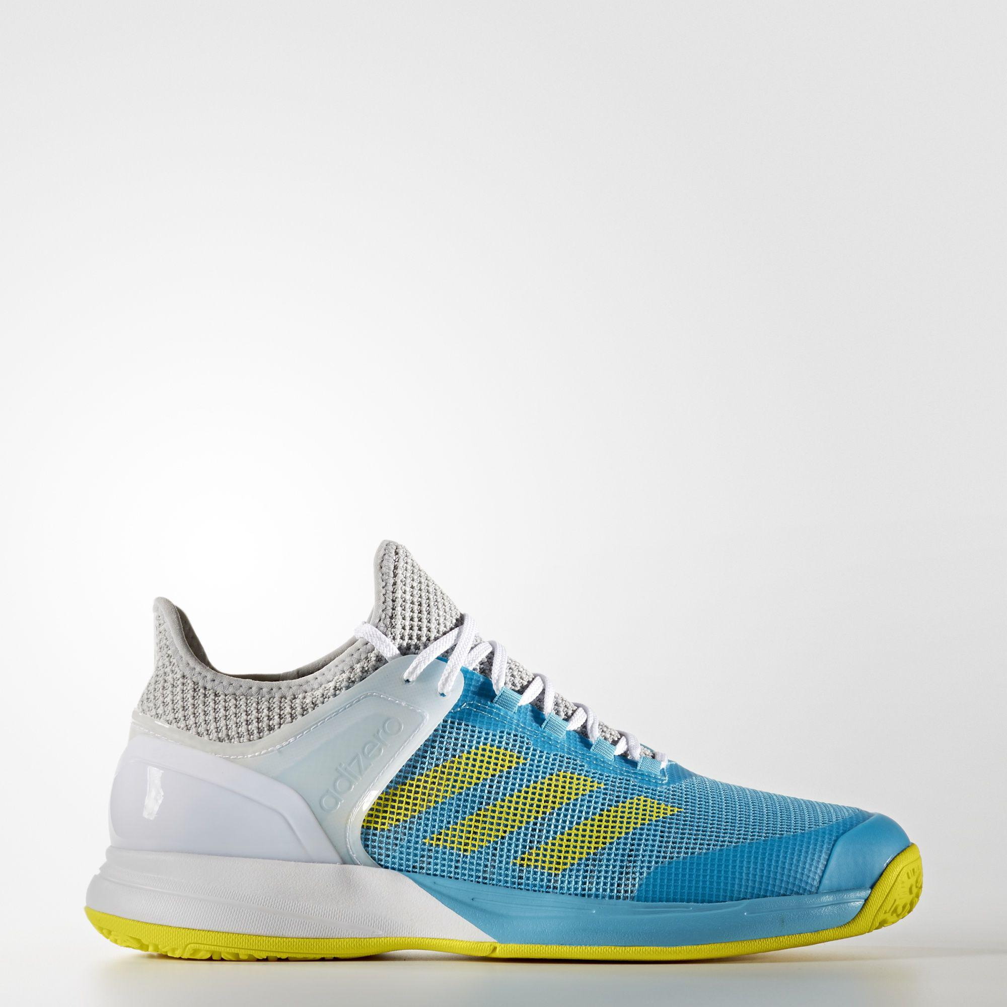 check out c3cc4 e3403 Adidas Mens Adizero Ubersonic 2.0 Omni Tennis Shoes - BlueYellow -  Tennisnuts.com
