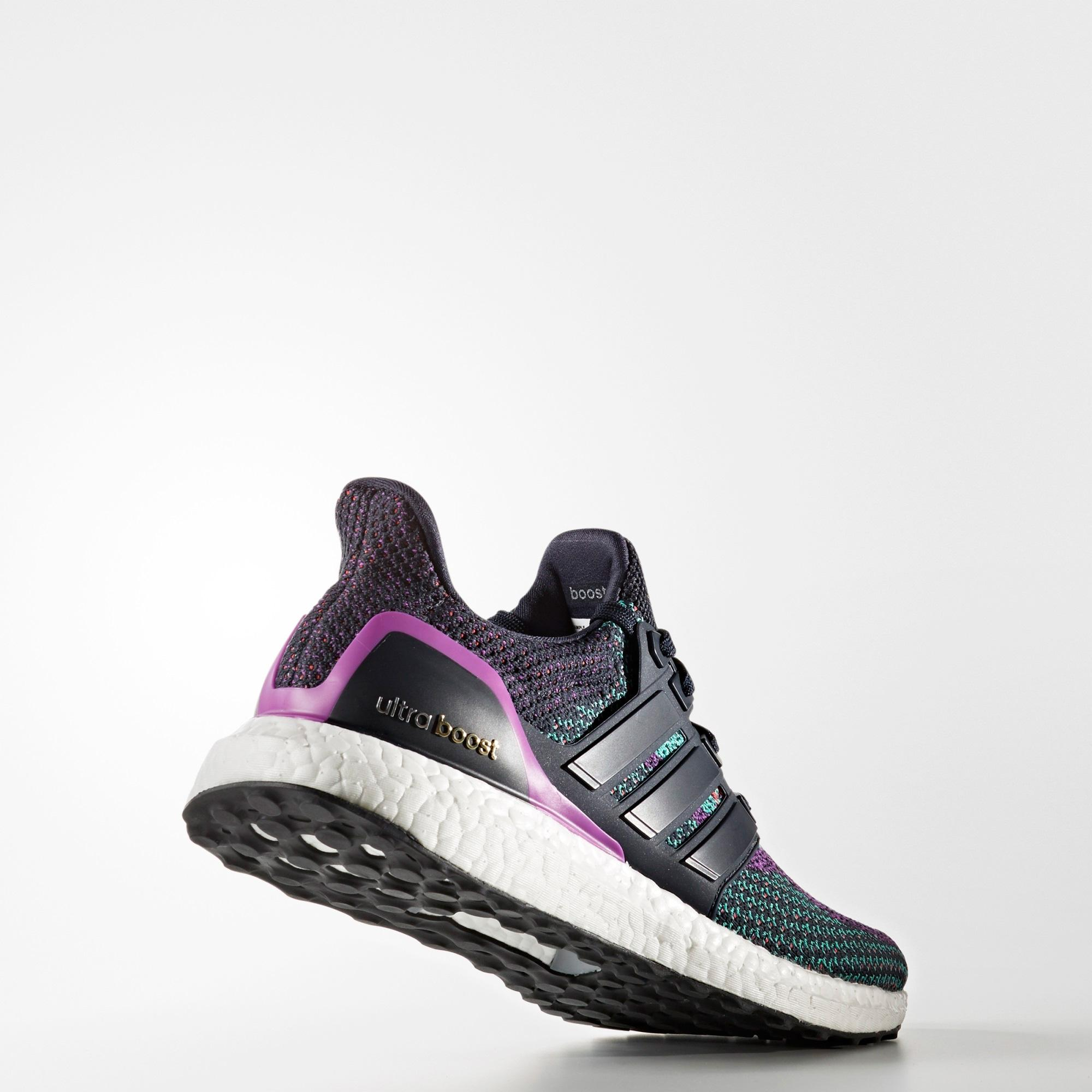 50b79e468 Adidas Mens Ultra Boost Running Shoes - Navy Purple - Tennisnuts.com