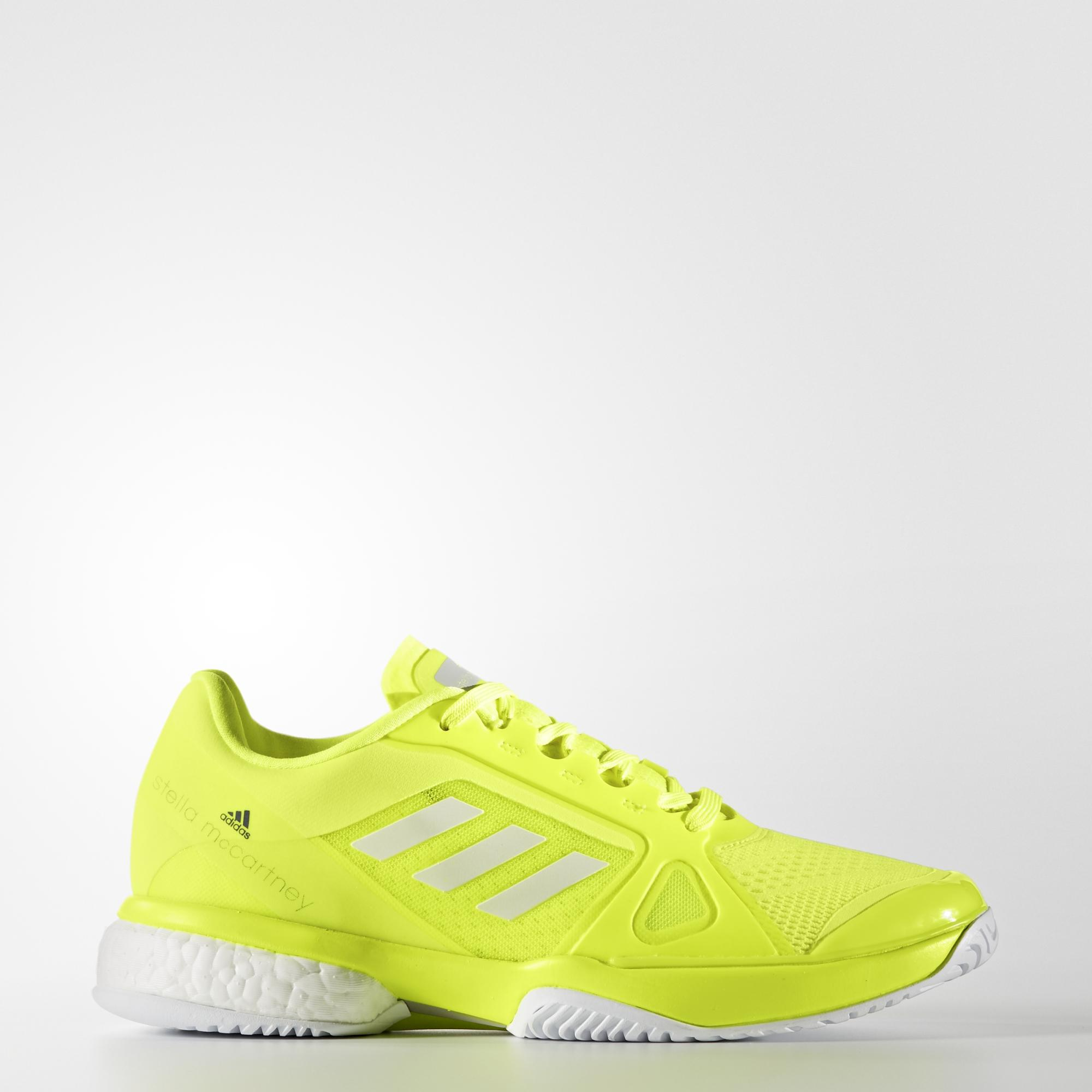 new concept 9e679 7c2df Adidas Womens SMC Barricade Boost 2017 Tennis Shoes - Yellow -  Tennisnuts.com