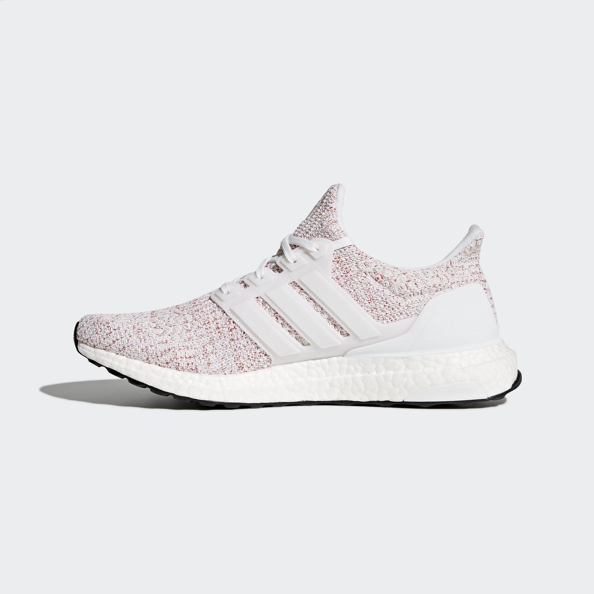 da5f45e3fee shopping adidas mens ultra boost running shoes white scarlet d281a 8b2a4