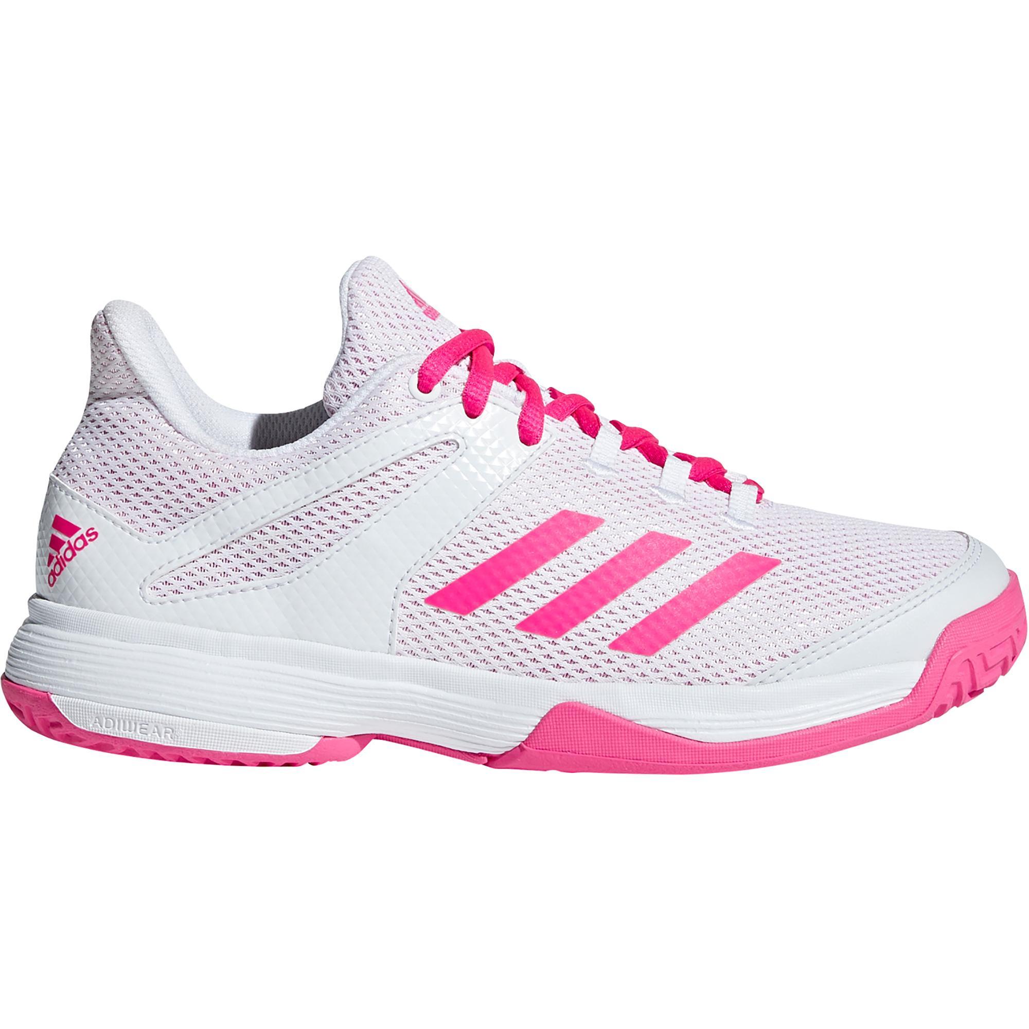 Adidas Kids Adizero Club Tennis Shoes - White/Pink ...