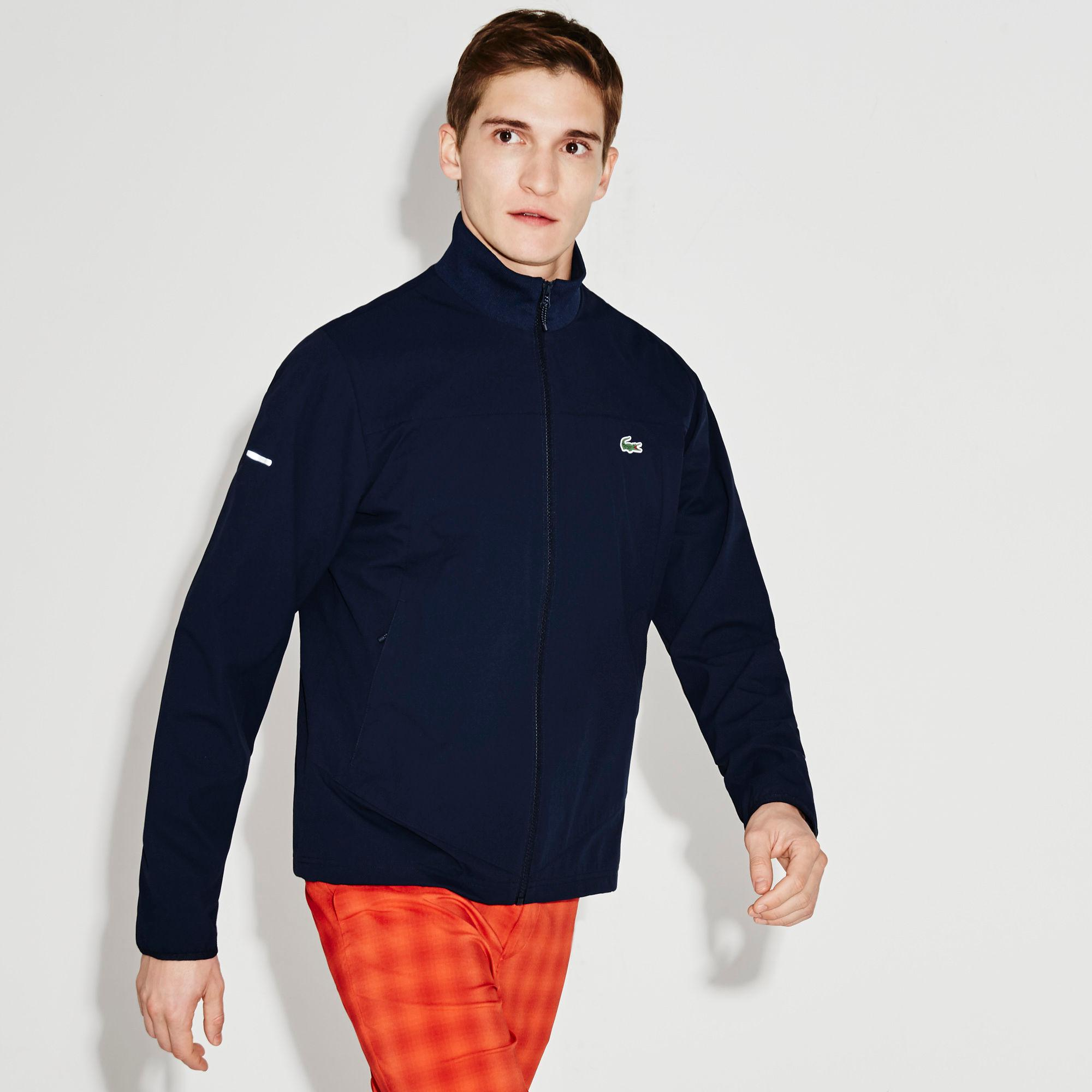 lacoste sport mens jacket navy blue. Black Bedroom Furniture Sets. Home Design Ideas