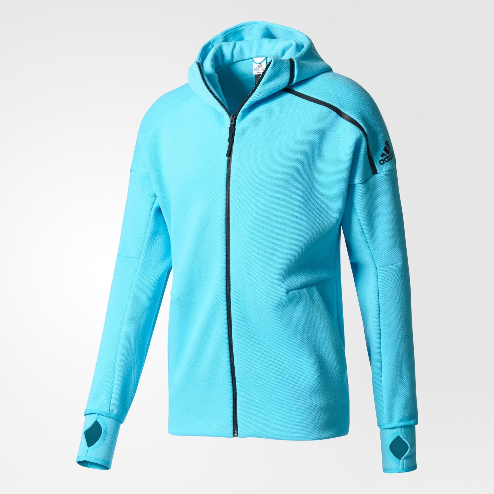 Adidas Mens Z.N.E. Hoodie Samba BlueBlack