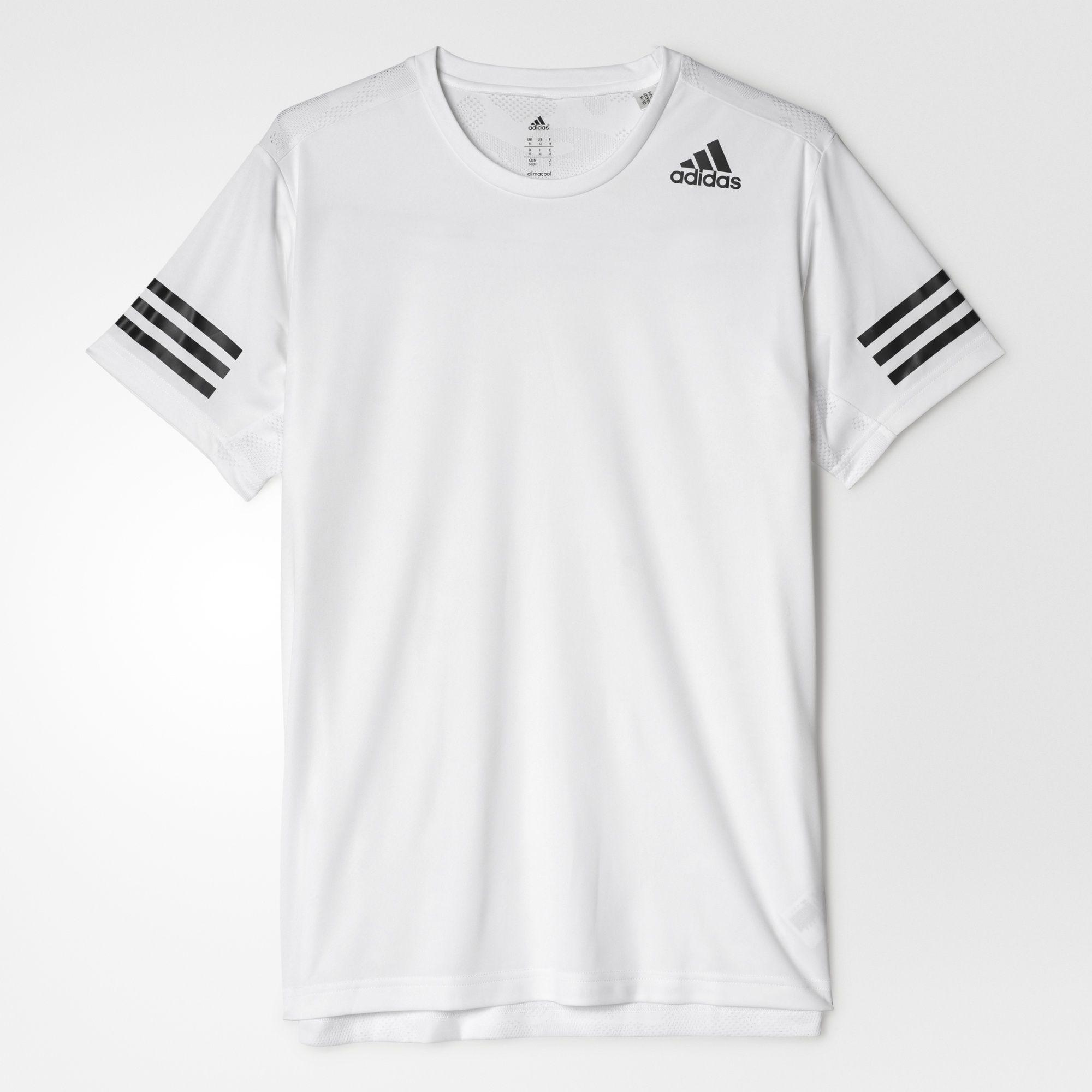 d9deb051fe09d Adidas Mens FreeLift Climacool Training Tee - White - Tennisnuts.com