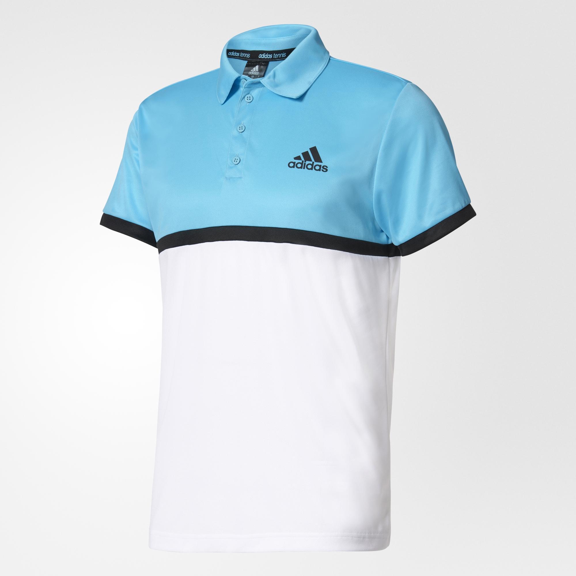 de21485c Adidas Mens Court Polo - Samba Blue - Tennisnuts.com