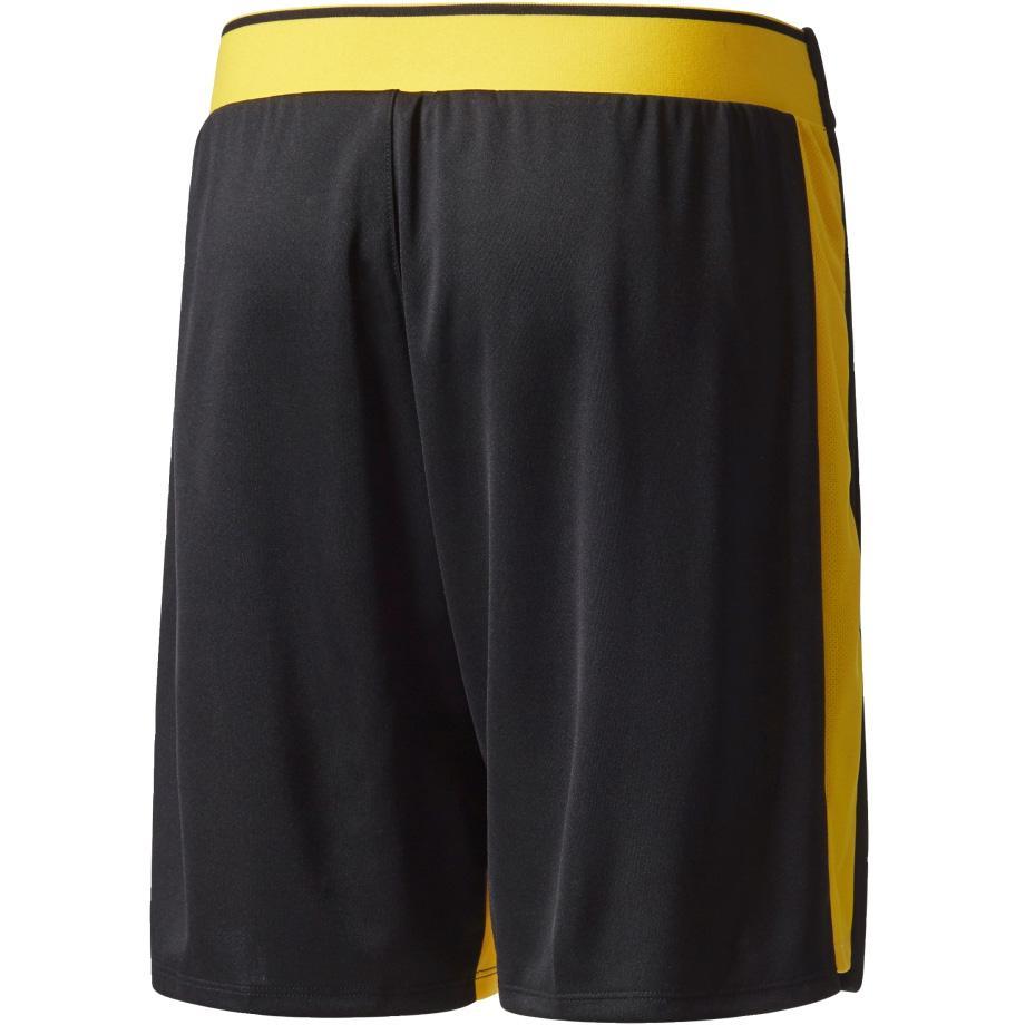 Adidas Boys Barricade Tennis Shorts - Black/Yellow