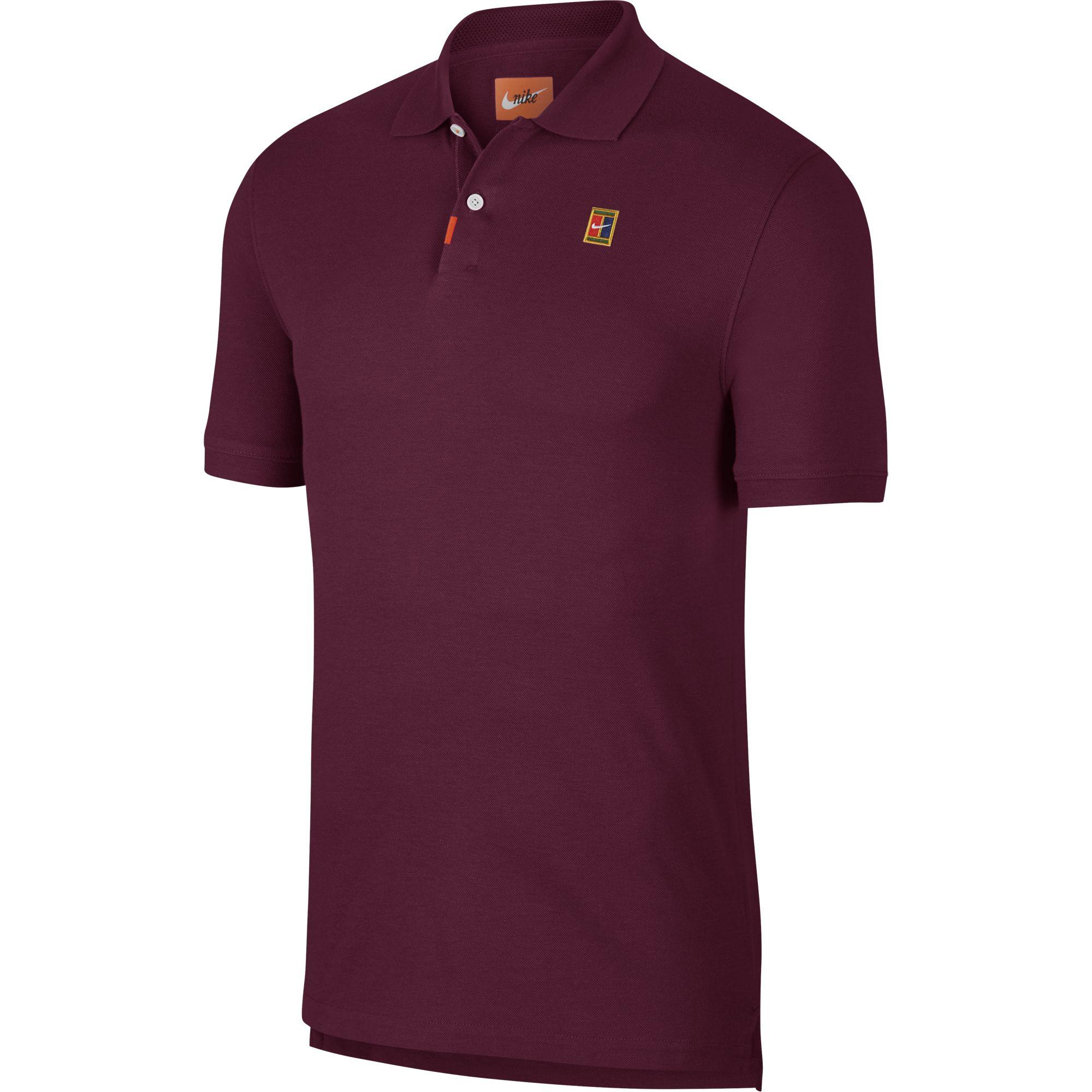 first look official site low priced Nike Mens Slim Fit Polo - Bordeaux - Tennisnuts.com