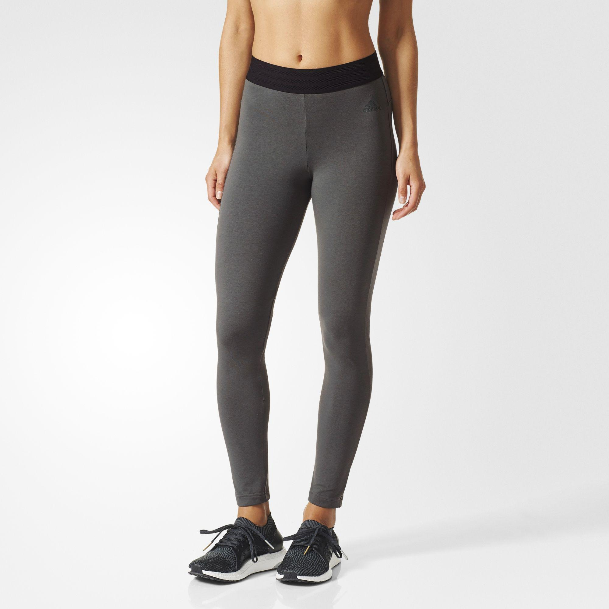 d0d320d2c536c Adidas Womens Sport ID Tights - Grey - Tennisnuts.com