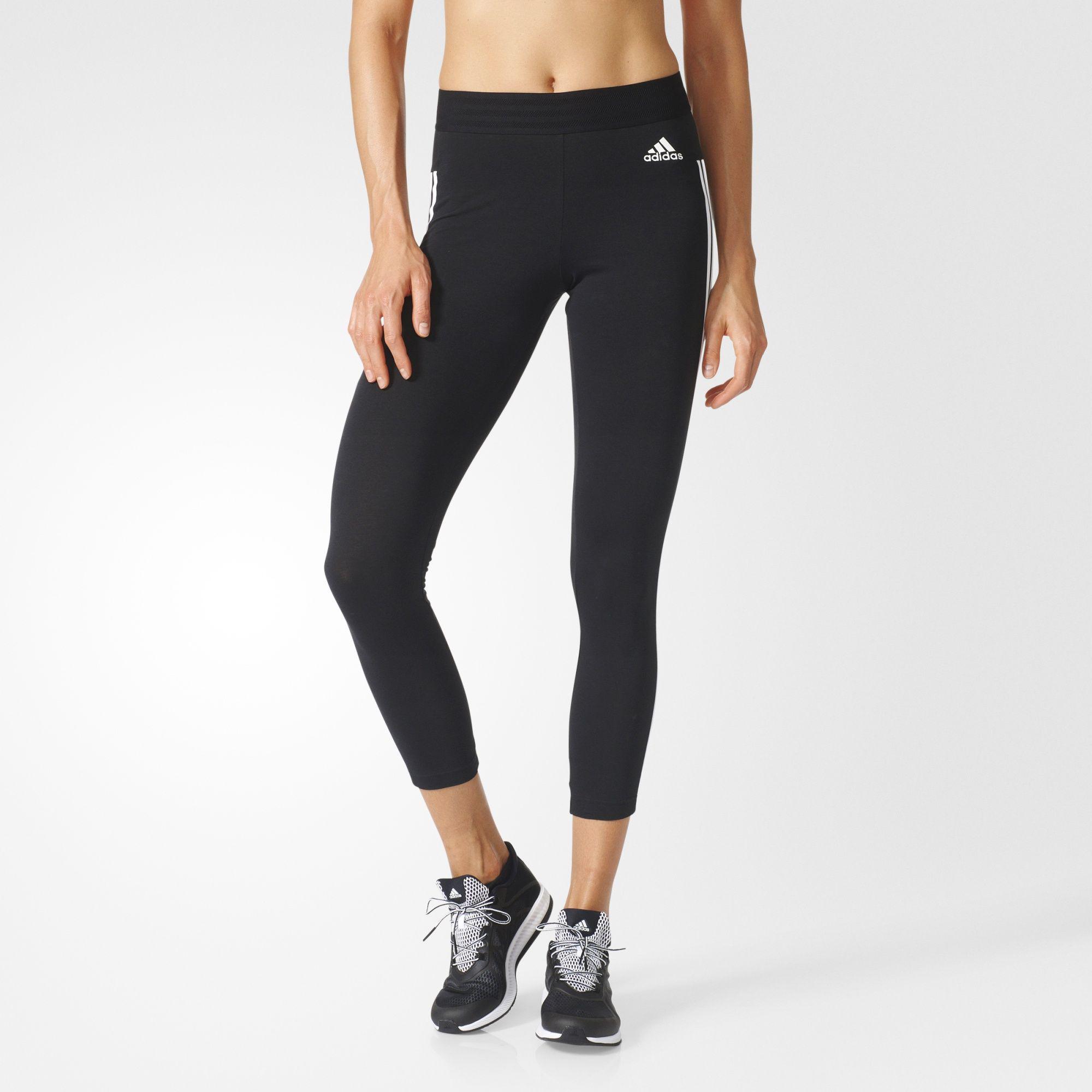Adidas Womens Essentials 3-Stripe Tights - Black - Tennisnuts.com a5c43bd2b