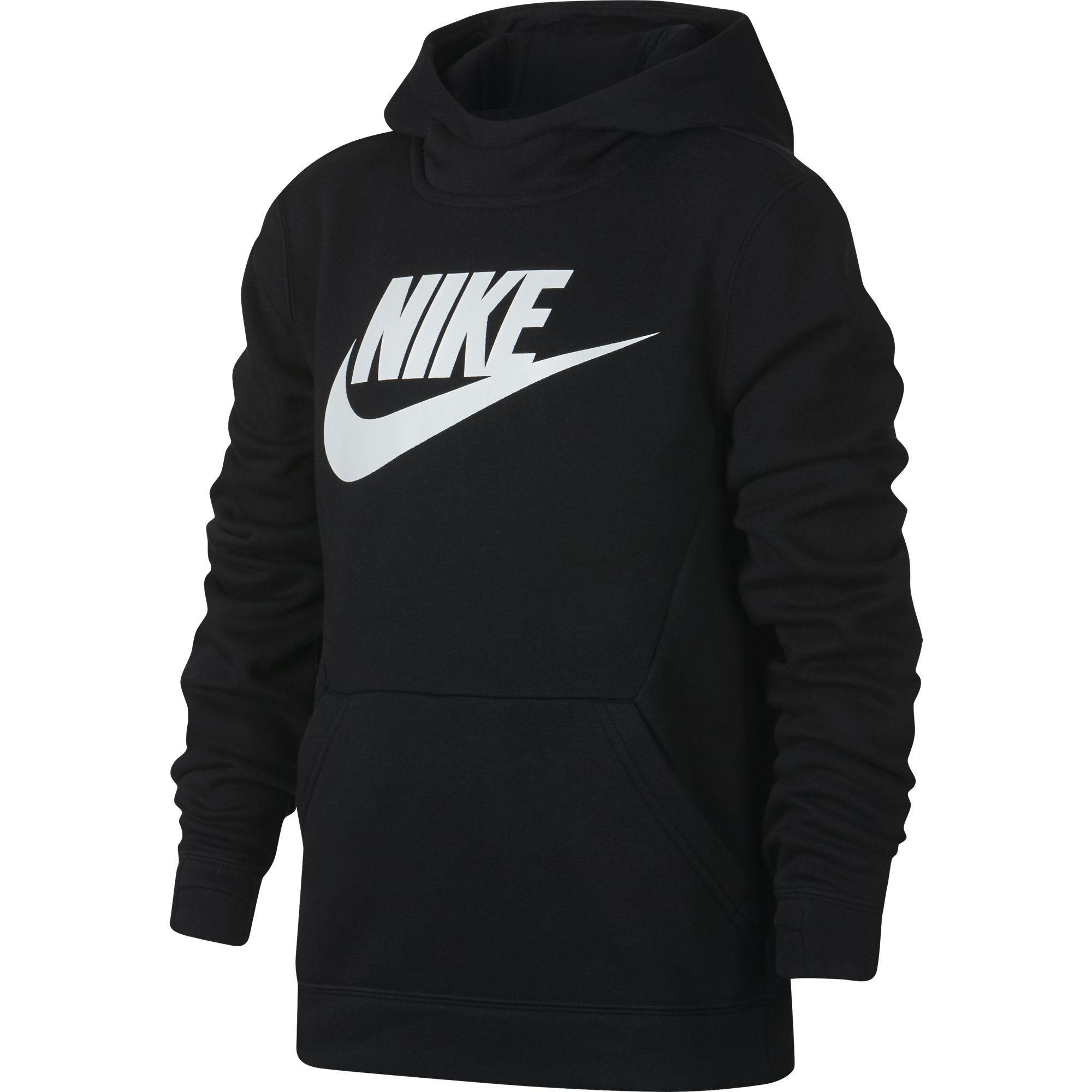 e4325d9d87 Nike Boys Sportswear Pullover Hoodie - Black/White - Tennisnuts.com