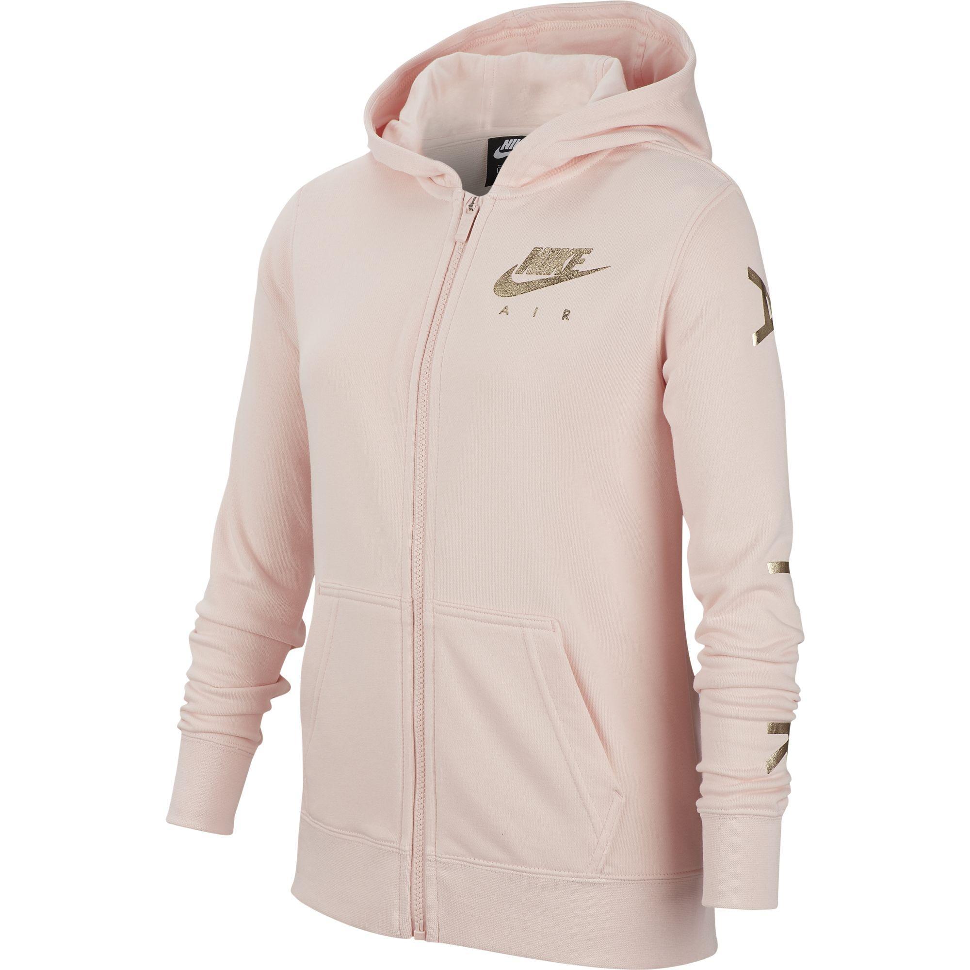 Nike Air Girls Fleece Hoodie Echo Pink