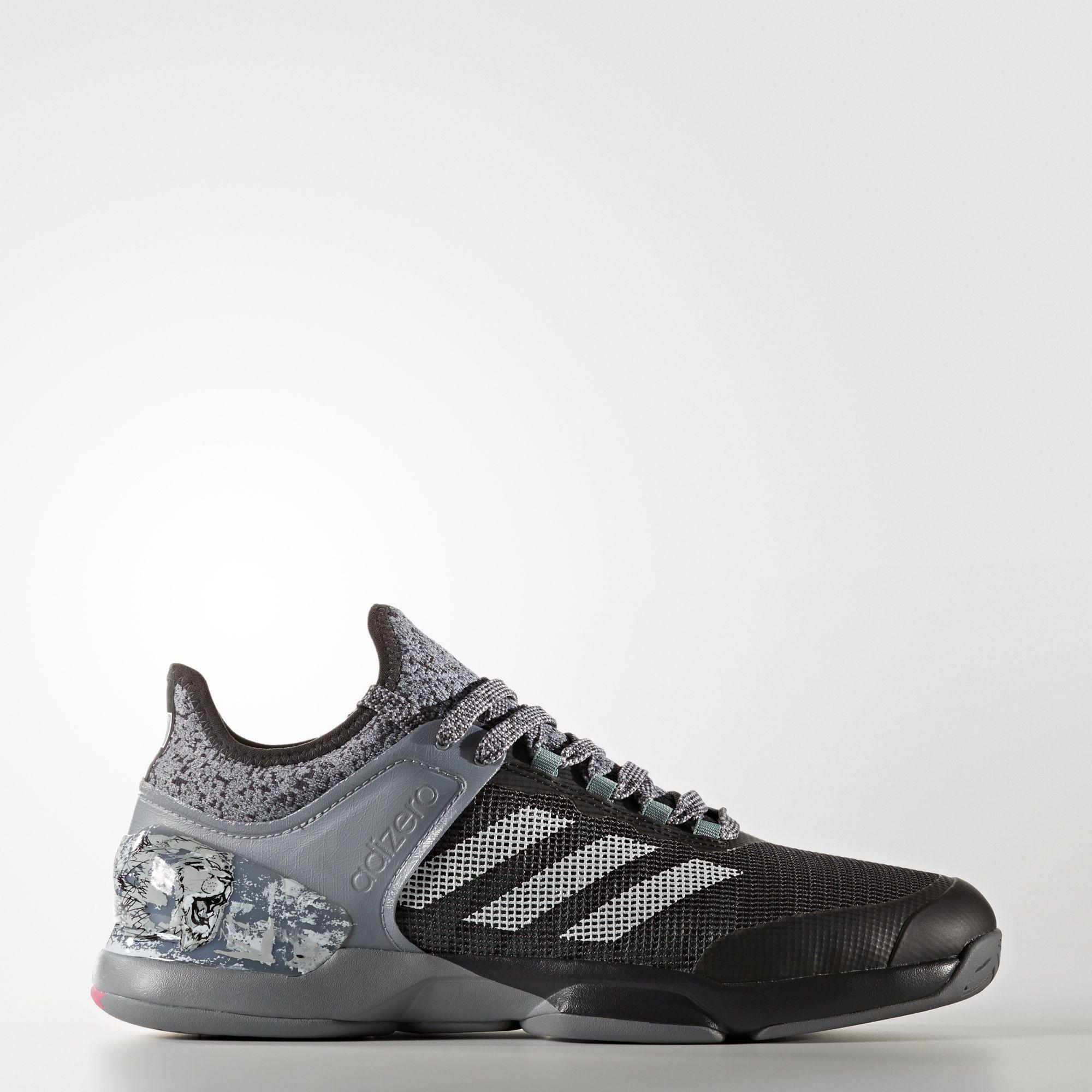 Adidas UK Shop - Adidas adizero Ubersonic 2.0 Street Art Shoes (Grey) for Men