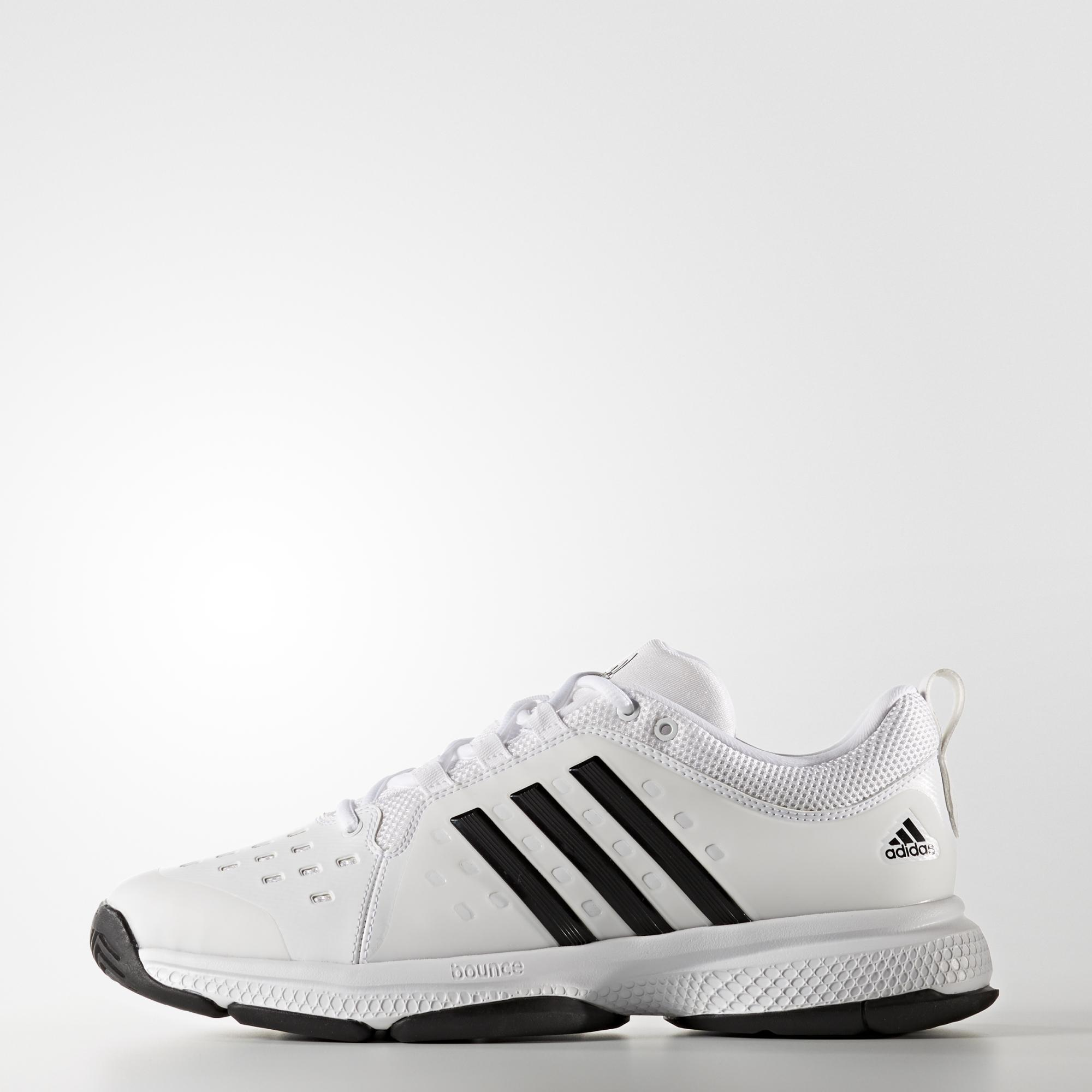 c2bd943cd Adidas Mens Barricade Classic Bounce Tennis Shoes - White Black ...