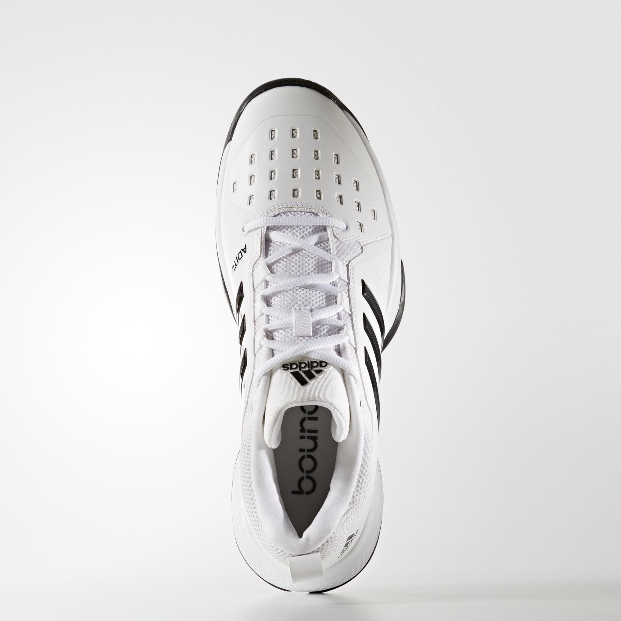 c7624c2837077 Adidas Mens Barricade Classic Bounce Tennis Shoes - White Black ...