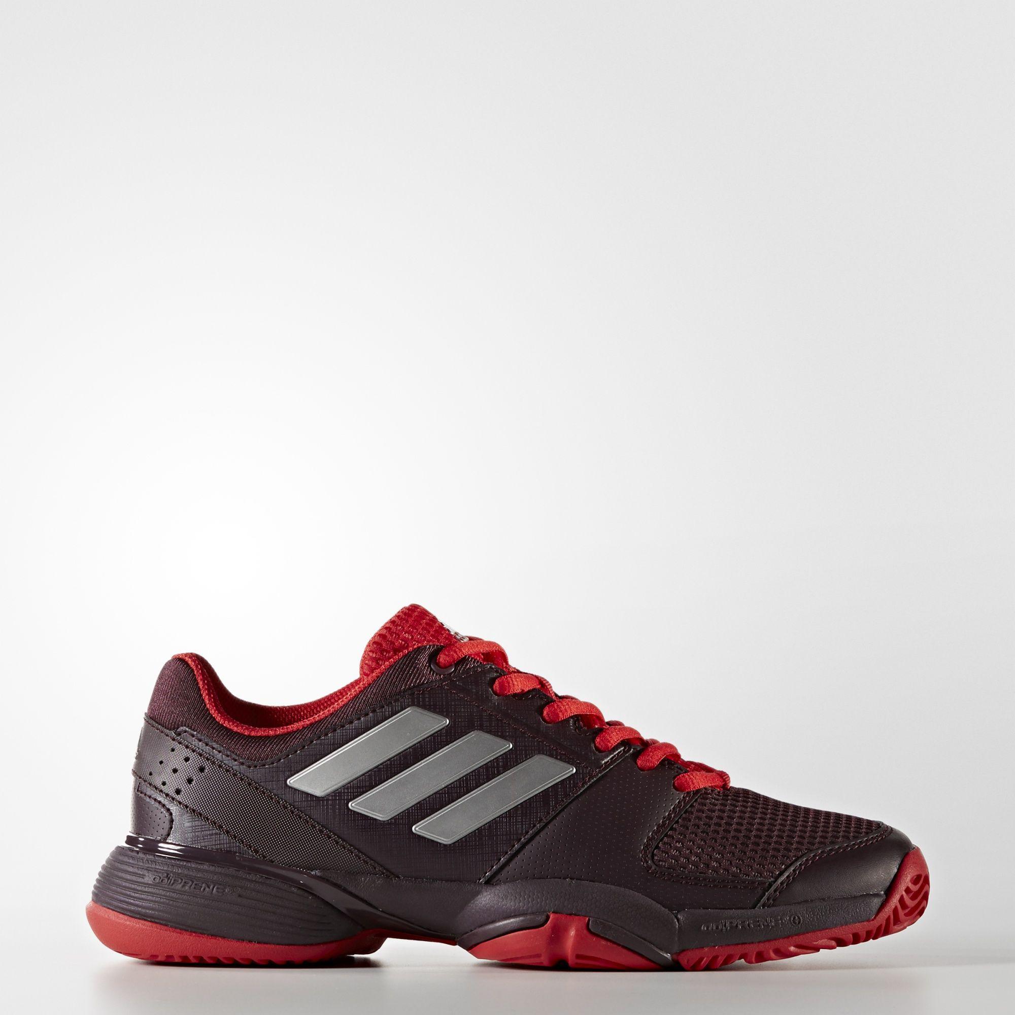 6c0d5ebe5 Adidas Kids Barricade Club XJ Tennis Shoes - Burgundy Scarlet -  Tennisnuts.com