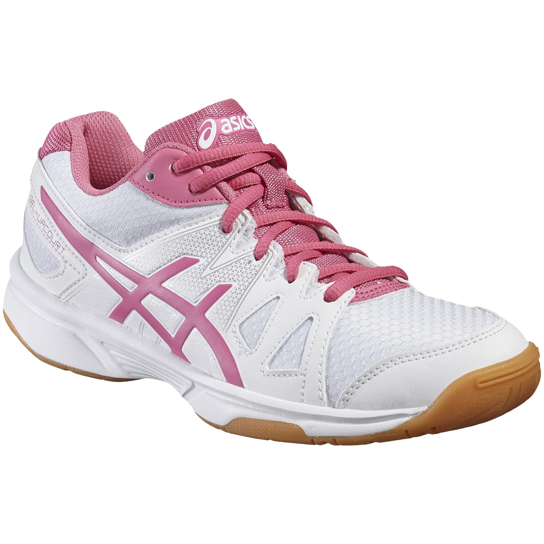 31f322d1704e Asics Girls GEL-Upcourt GS Indoor Court Shoes - White Azalea Pink -  Tennisnuts.com