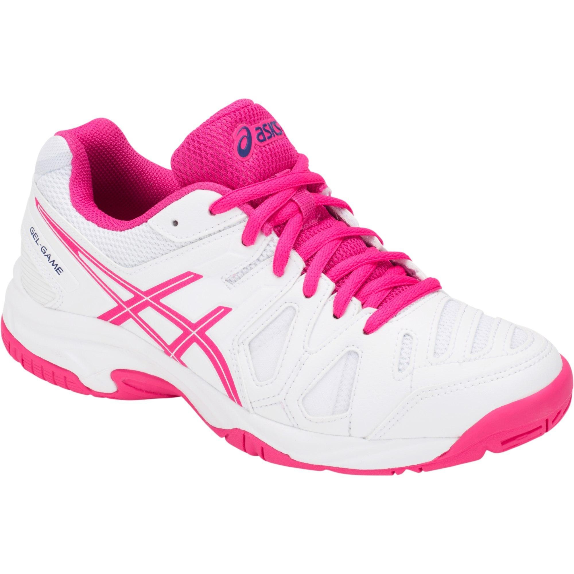 Asics Kids GEL-Game 5 GS Tennis Shoes - White/Pink Glow ...