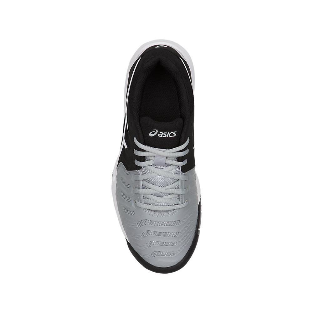Asics Kids GEL-Resolution 7 GS Tennis Shoes - Mild Grey Black White ... ff858930ae5